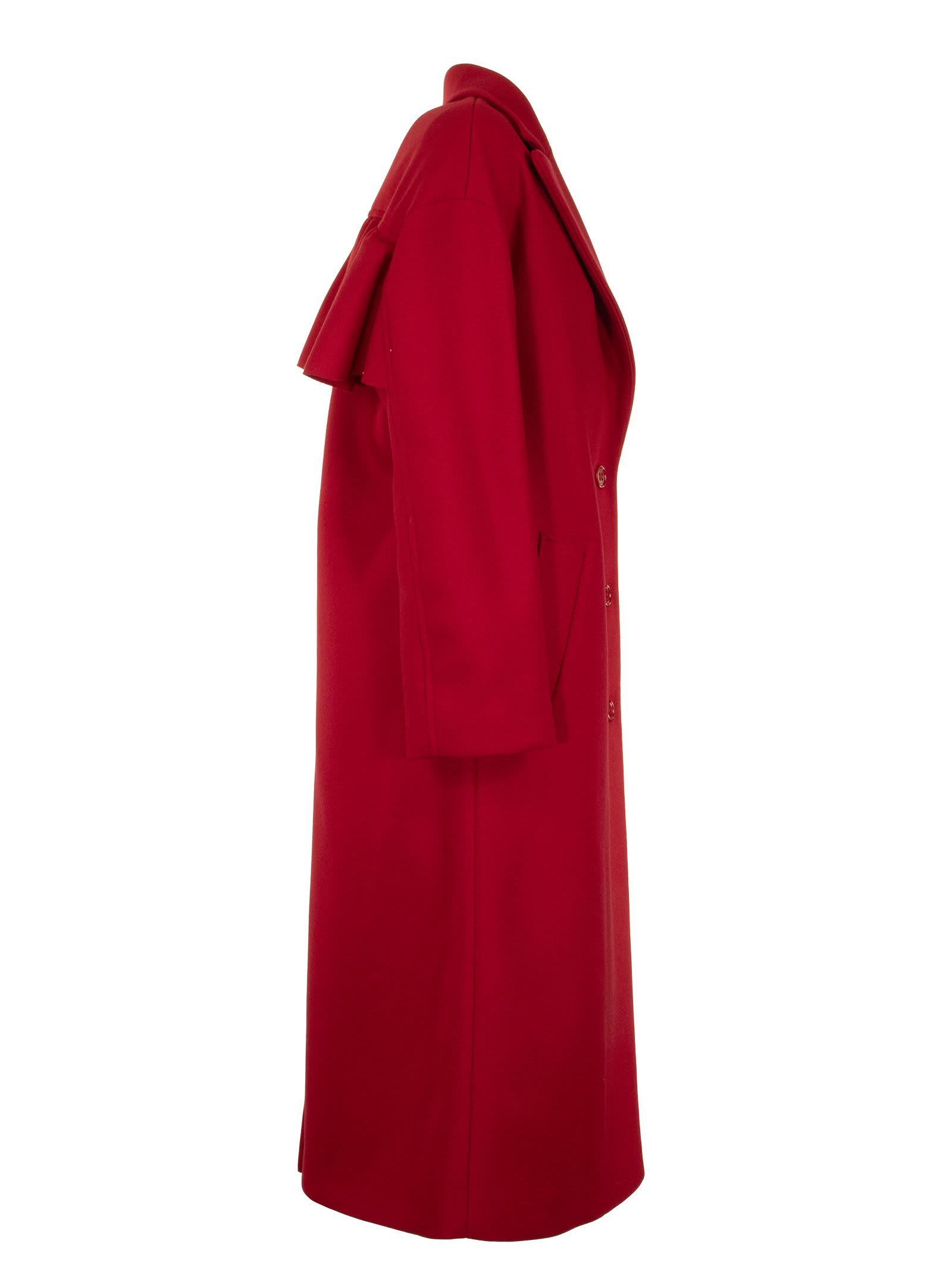 new concept 41ba6 62666 RED Valentino RED Valentino Cappotto Rosso - Red - 11047170 ...