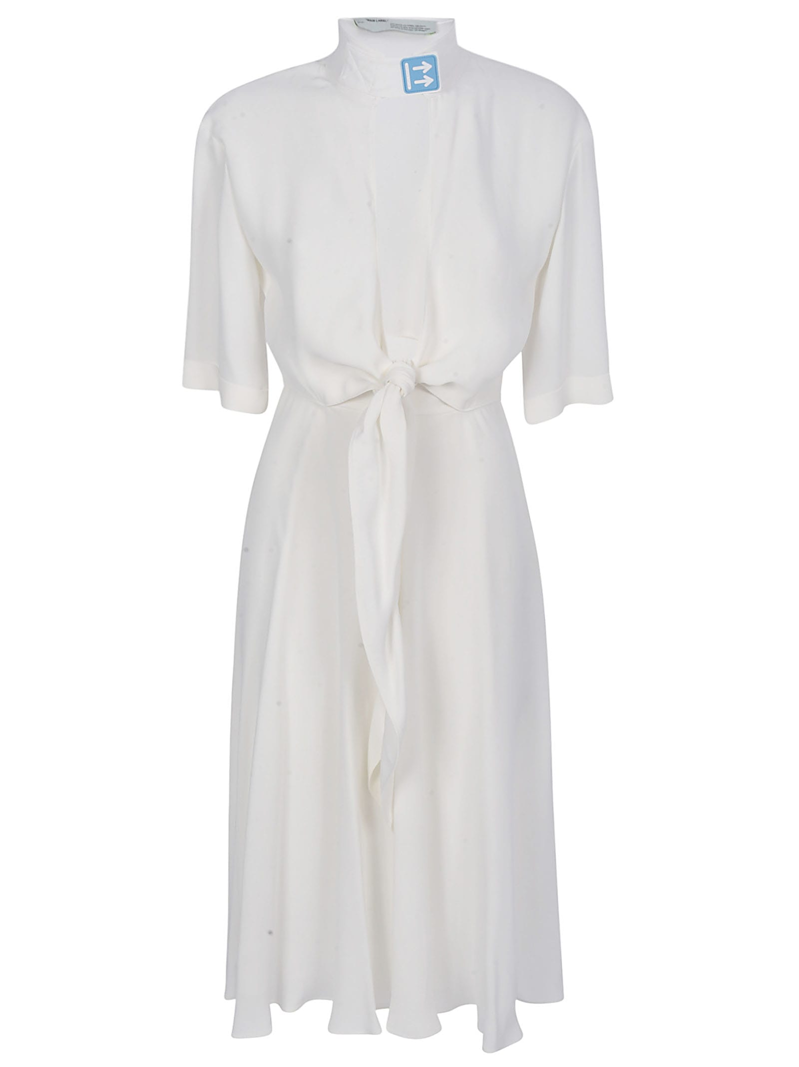 Buy Off-White Crepe Romantic Dress online, shop Off-White with free shipping