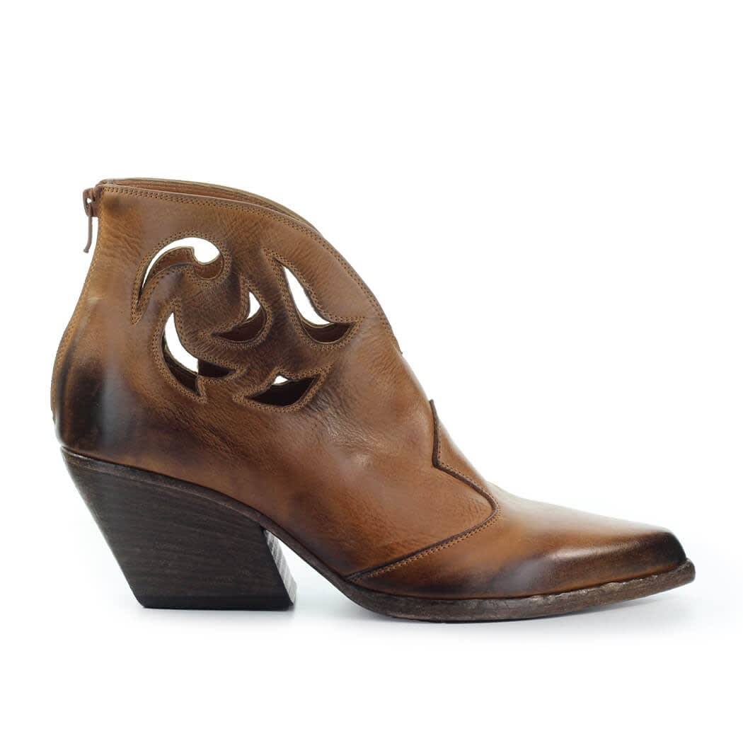 Light Brown Texan Ankle Boot