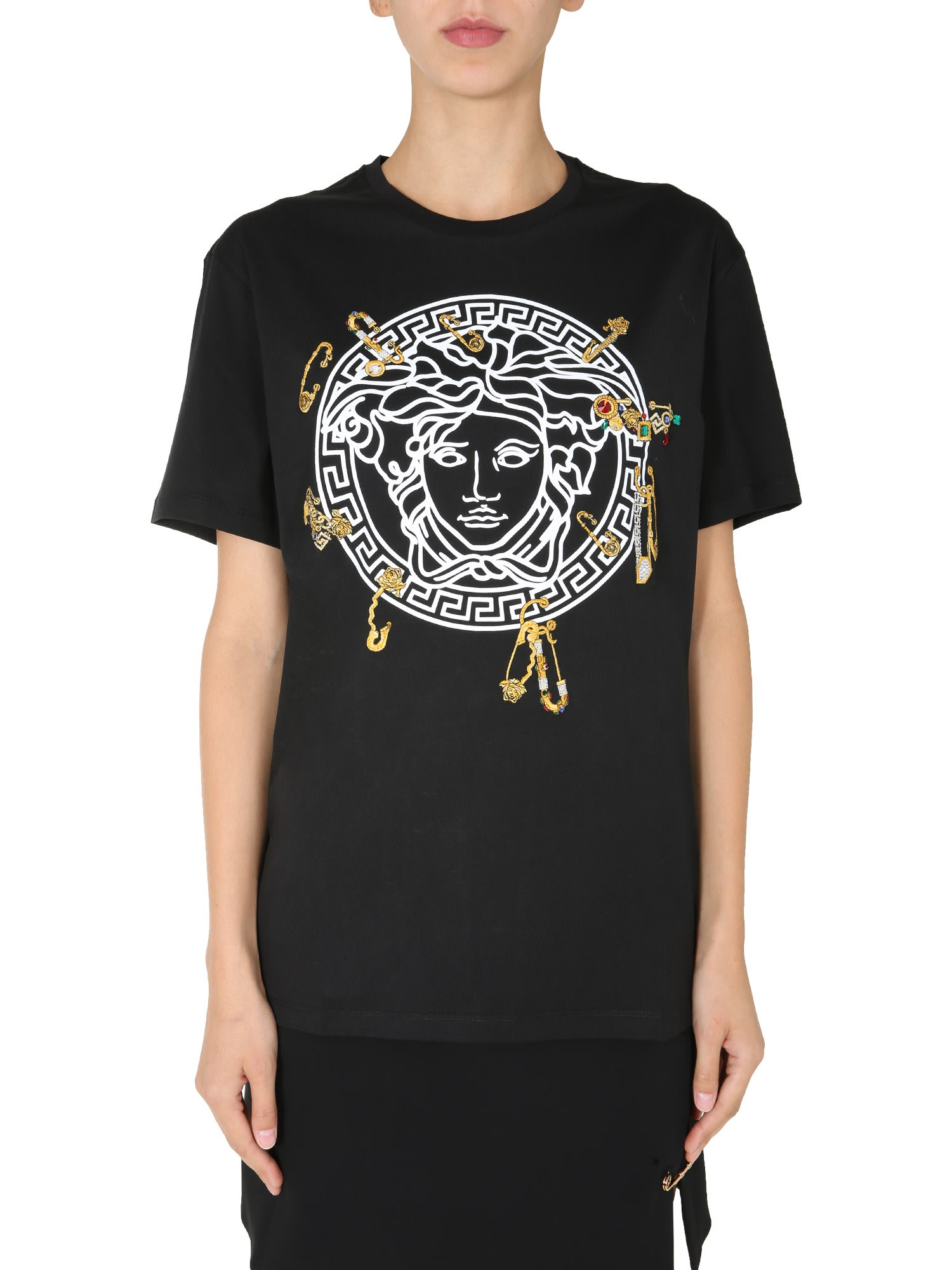 Versace Cottons CREW NECK T-SHIRT