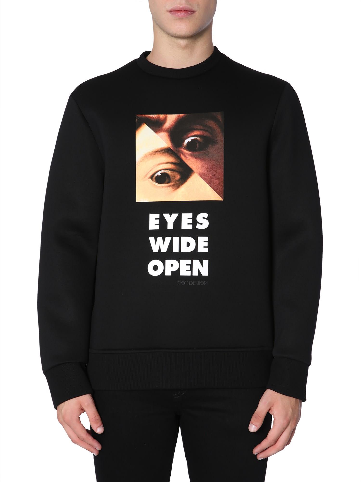 Neil Barrett Eyes Wide Open Printed Sweatshirt
