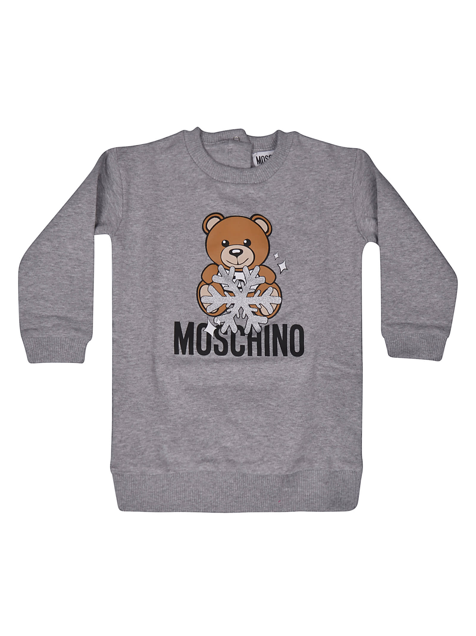 Moschino Teddy Bear Snowflake Fleece Dress