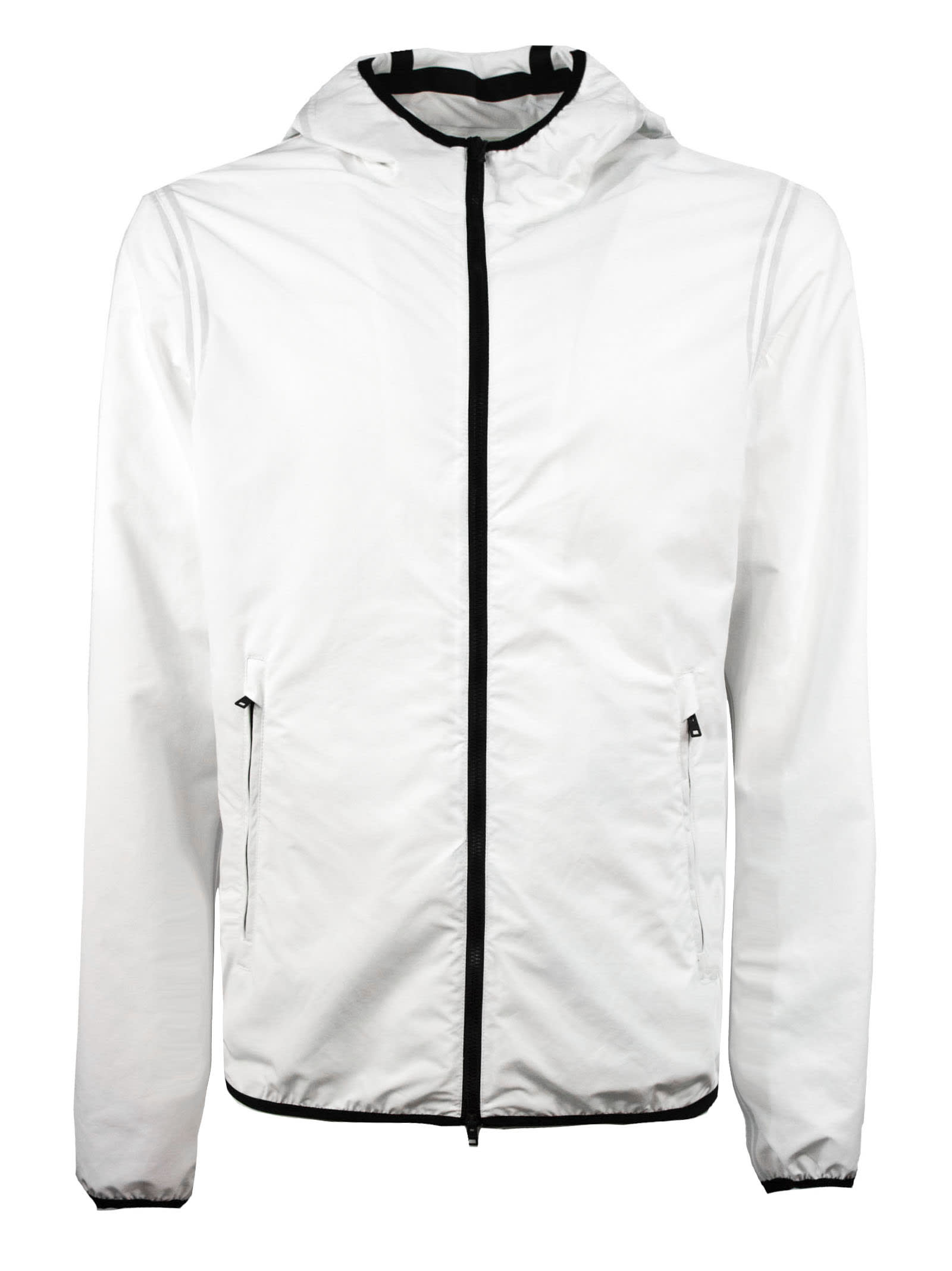 Herno Jacket In White High Tech Fabric