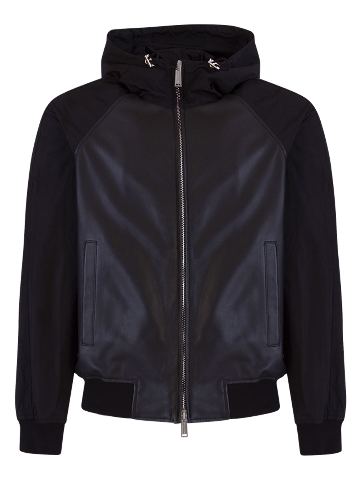 Dsquared2 Leathers DSQUARED LEATHER HOODED BOMBER JACKET