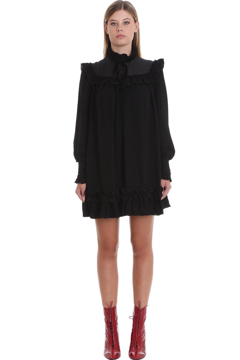 Marc Jacobs The Victorian Dress In Black Viscose