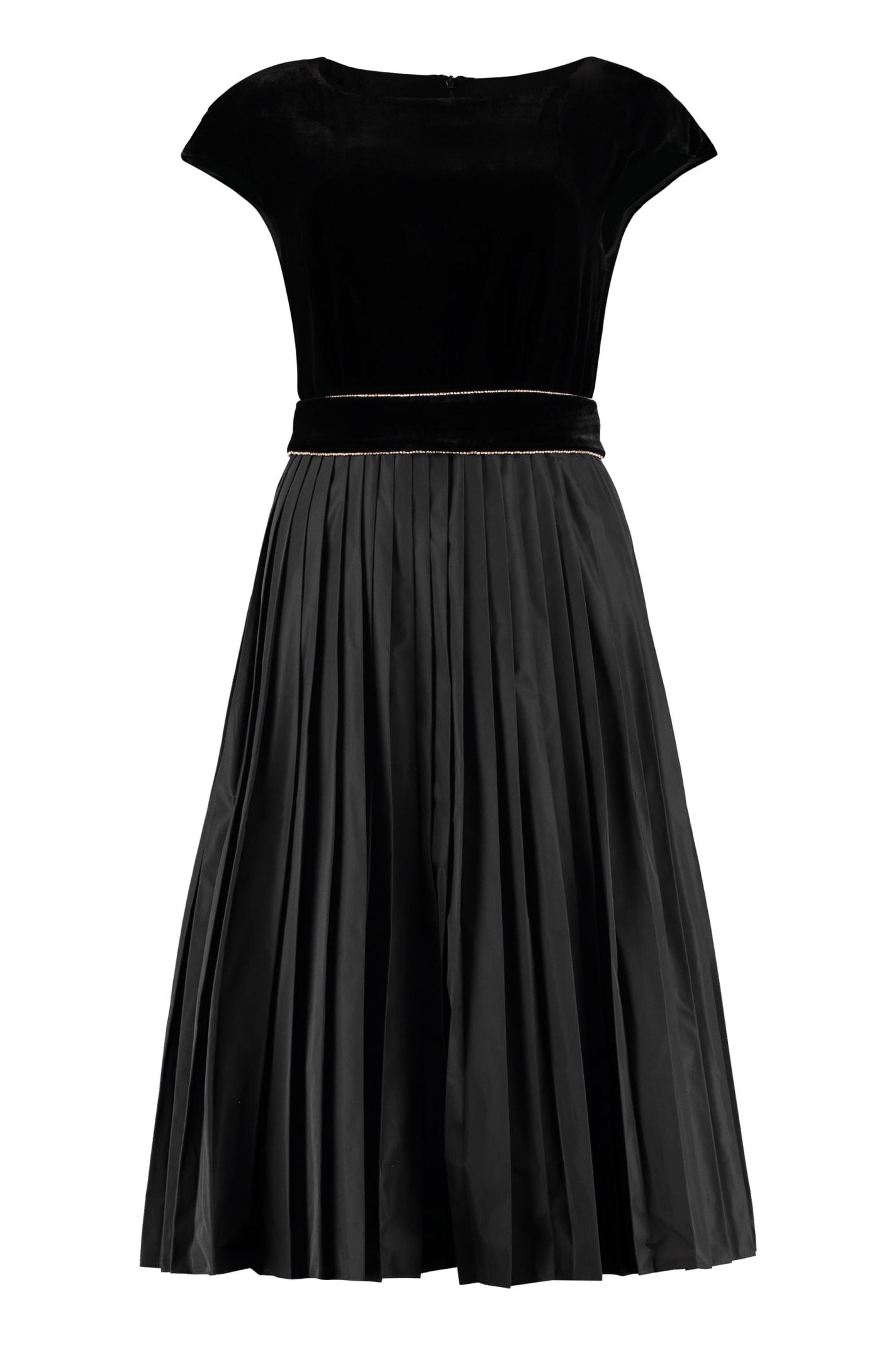 Buy Max Mara Studio Austero Pleated Skirt Dress online, shop Max Mara Studio with free shipping