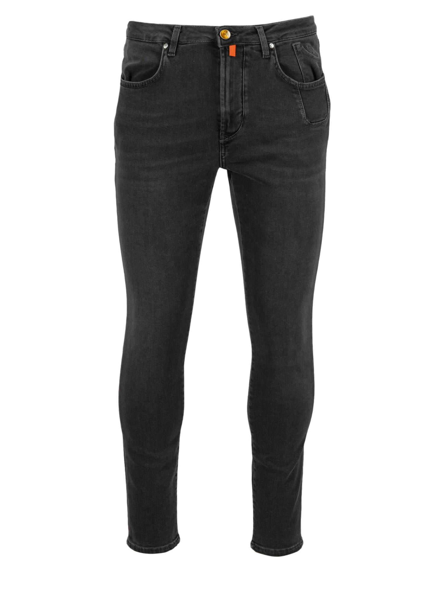 Pantal. Uomo Con Intarsio Jeans