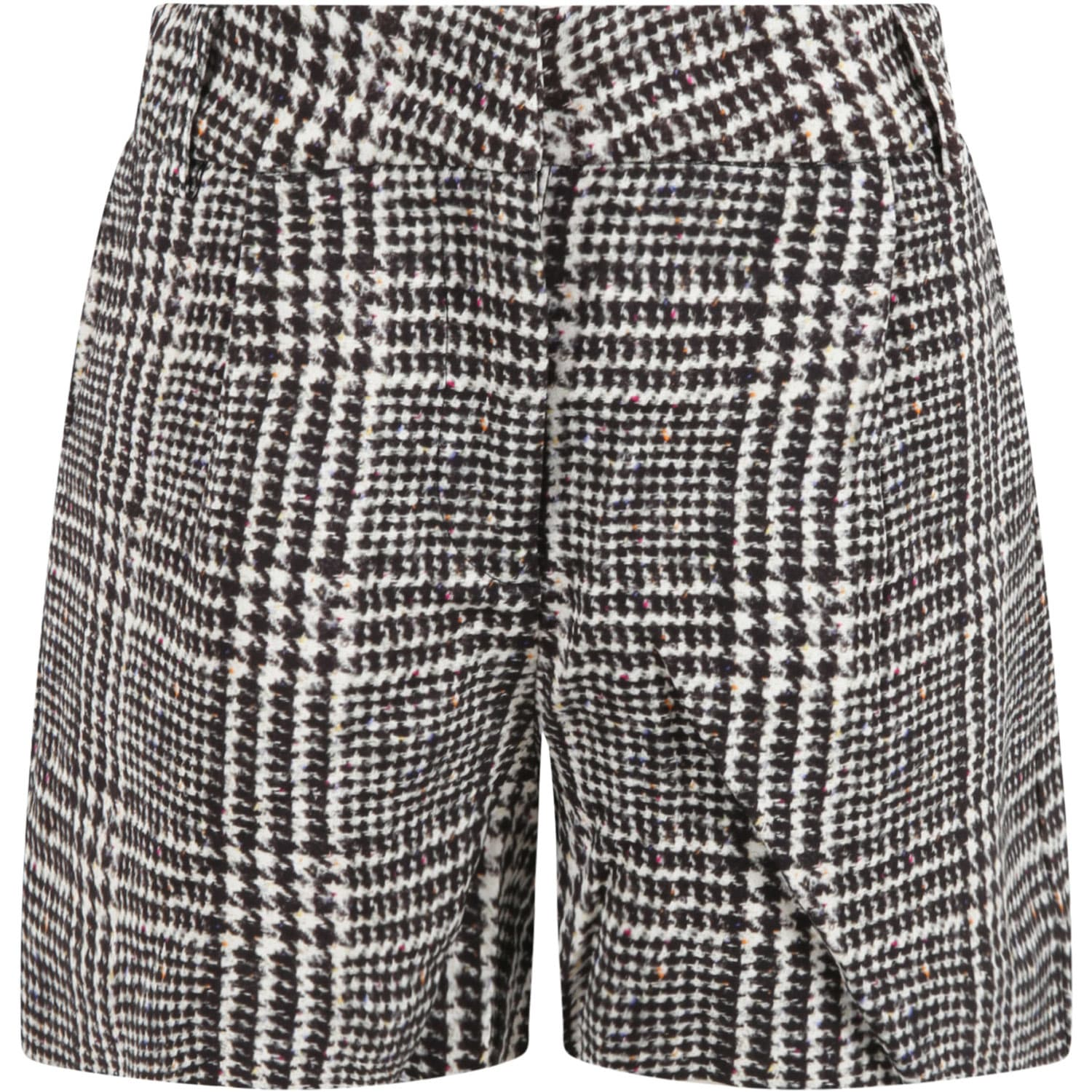 Multicolor Shorts For Girl With Logo Patch