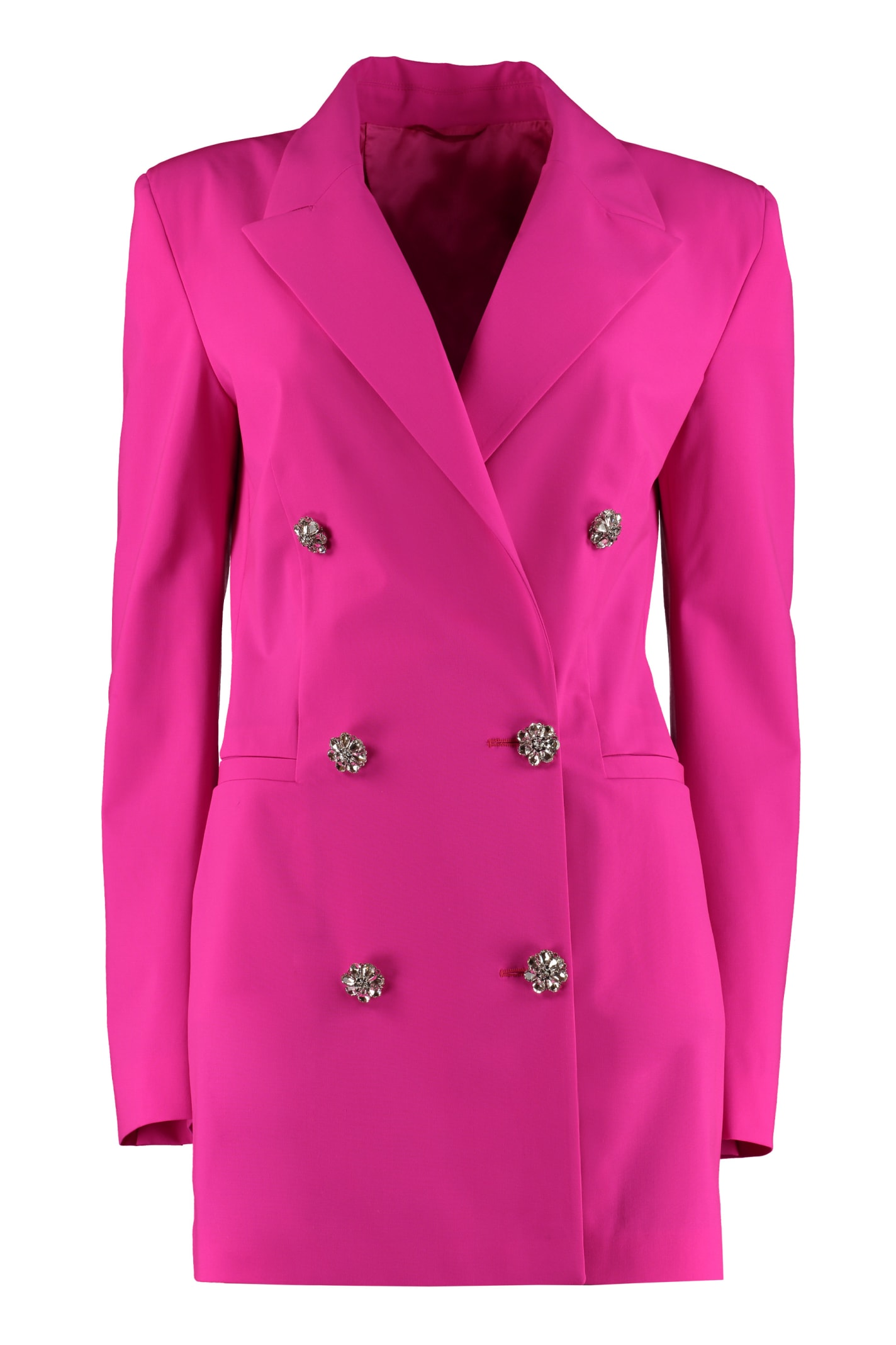 The Attico Embellished Button Blazer Dress