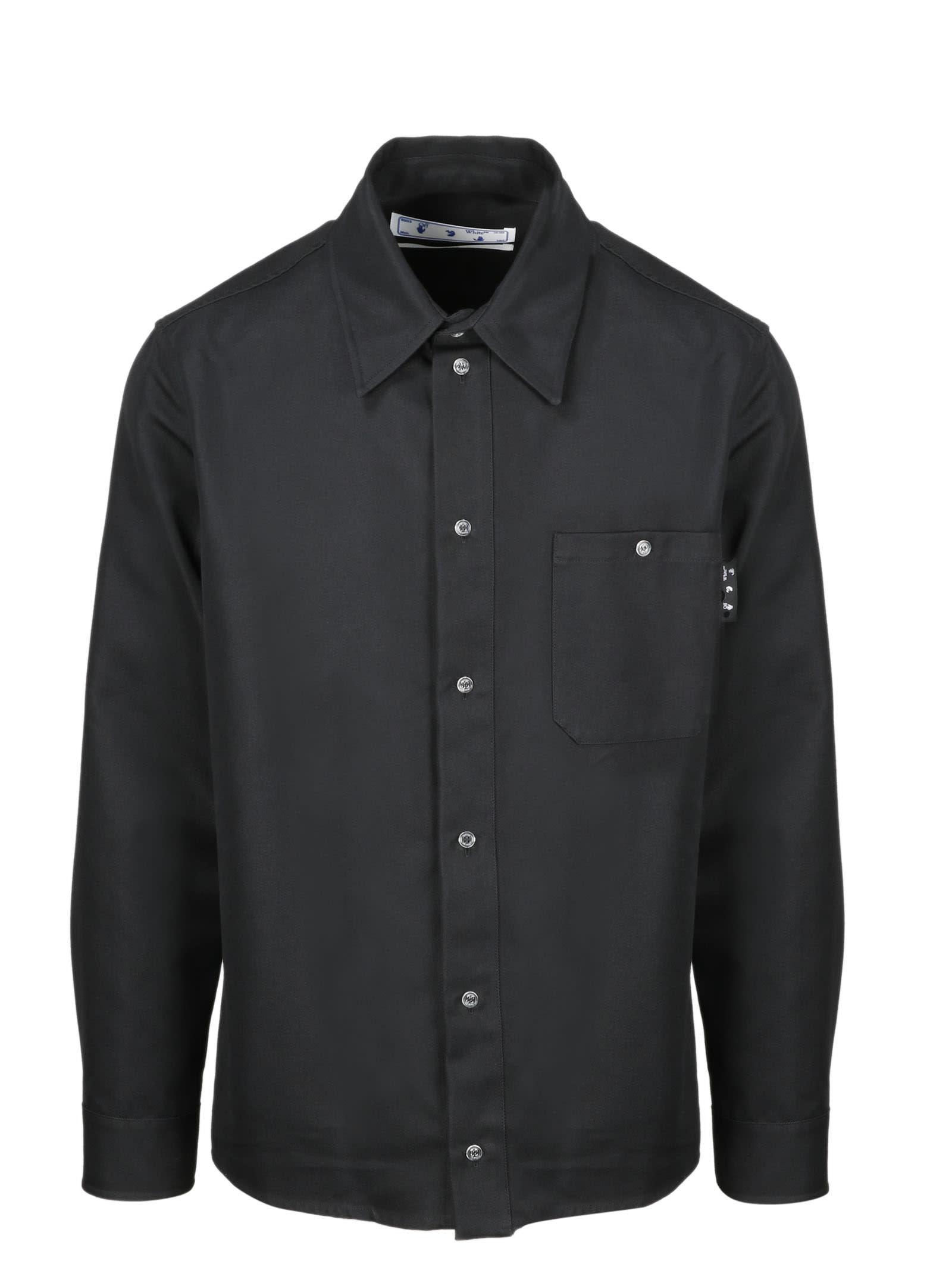 Off-White Ow Logo Work Shirt Black White