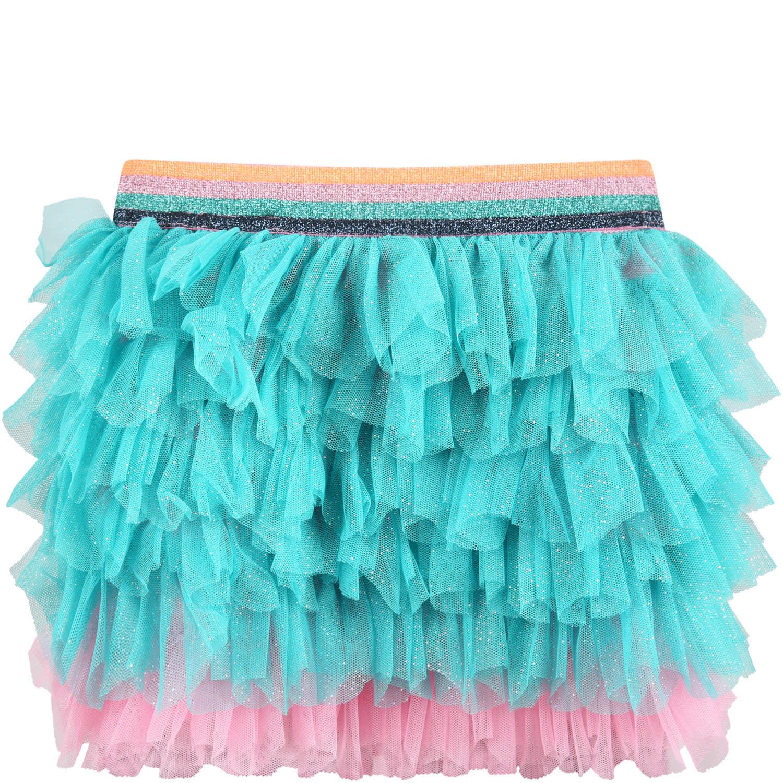Multicolor Skirt For Baby Girl
