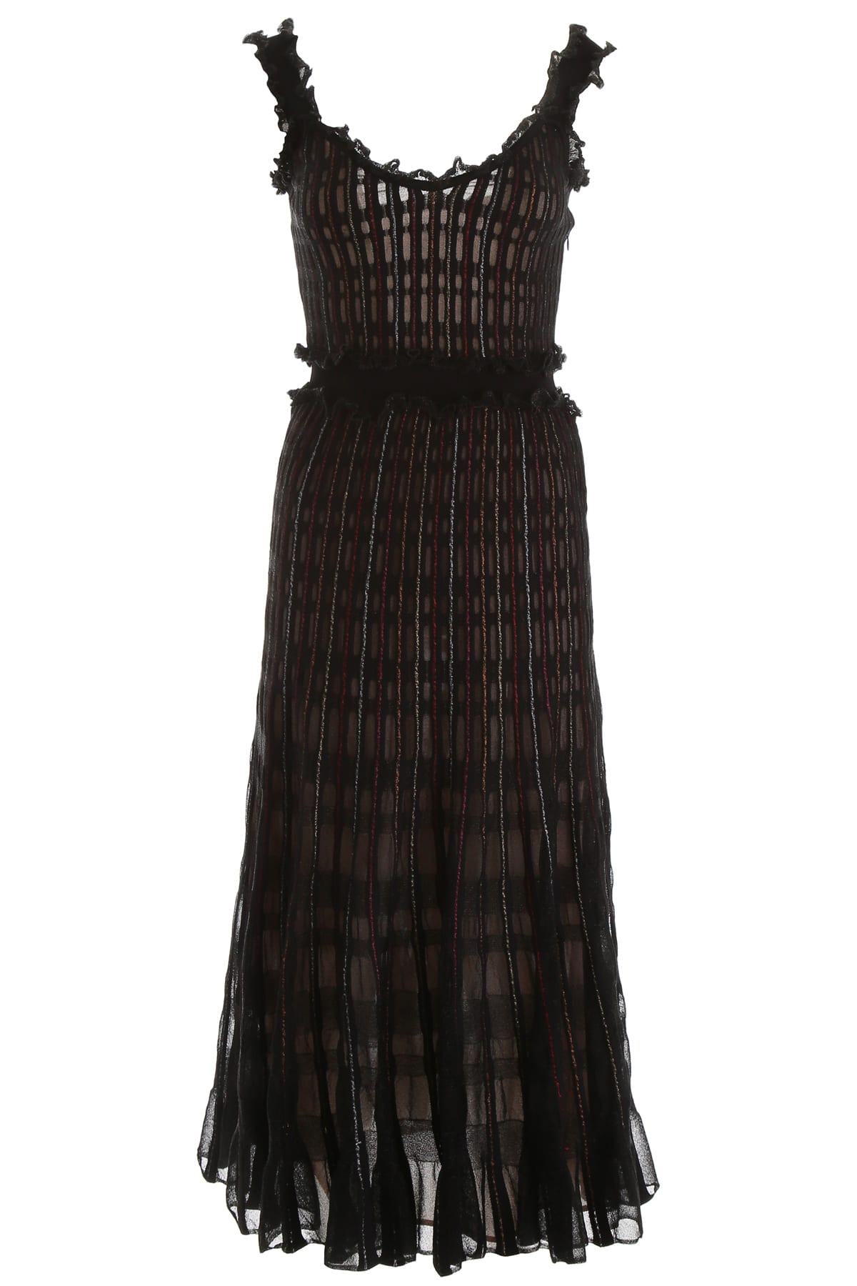 Alexander McQueen Lurex Midi Dress