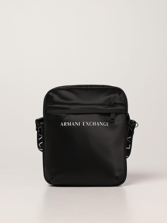 Armani Exchange Shoulder Bag Armani Exchange Crossbody Bag In Technical Fabric