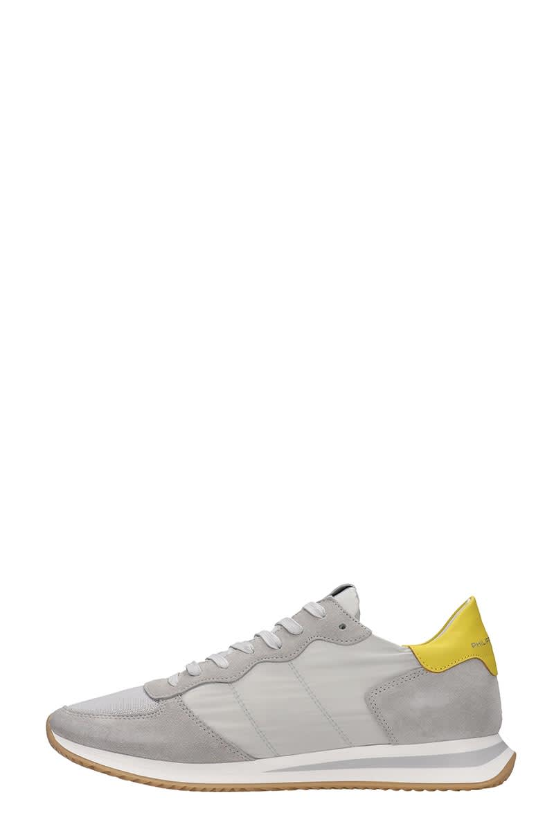 Philippe Model Trpx Sneakers In Grey Nylon