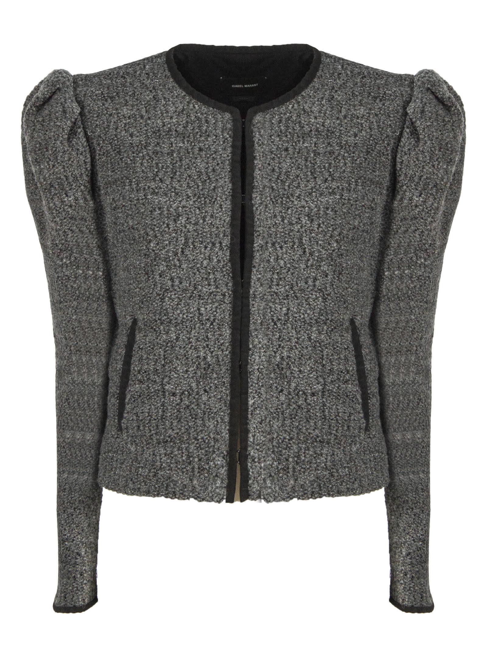 Isabel Marant Grey Virgin Wool Zingy Jacket In Grigio