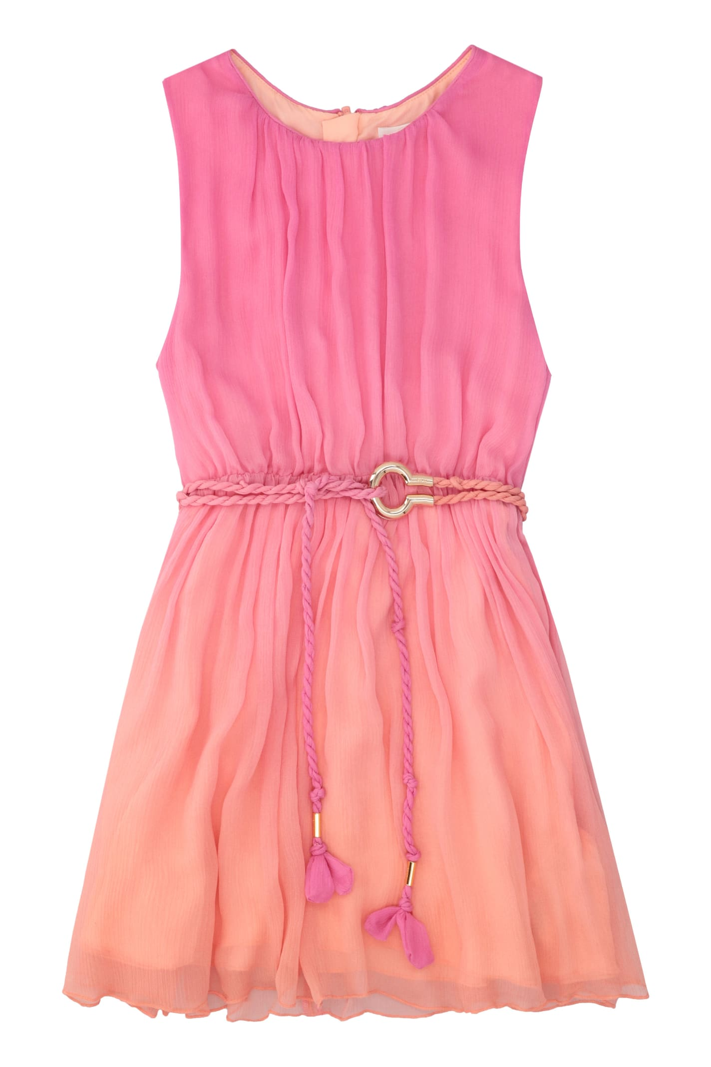 Buy Chloé Pleated Silk Dress online, shop Chloé with free shipping