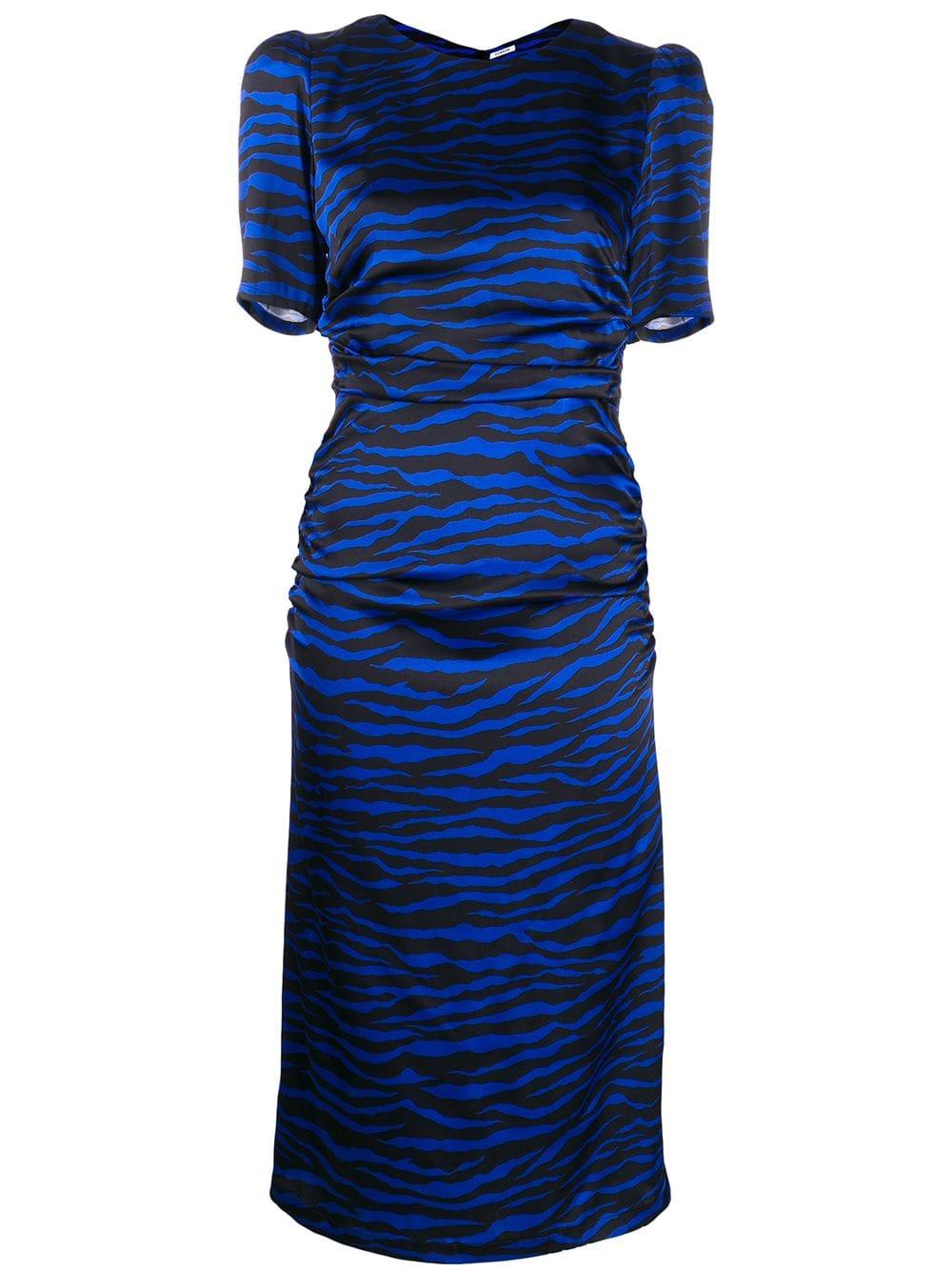 Parosh Printed Zebra Satin Dress