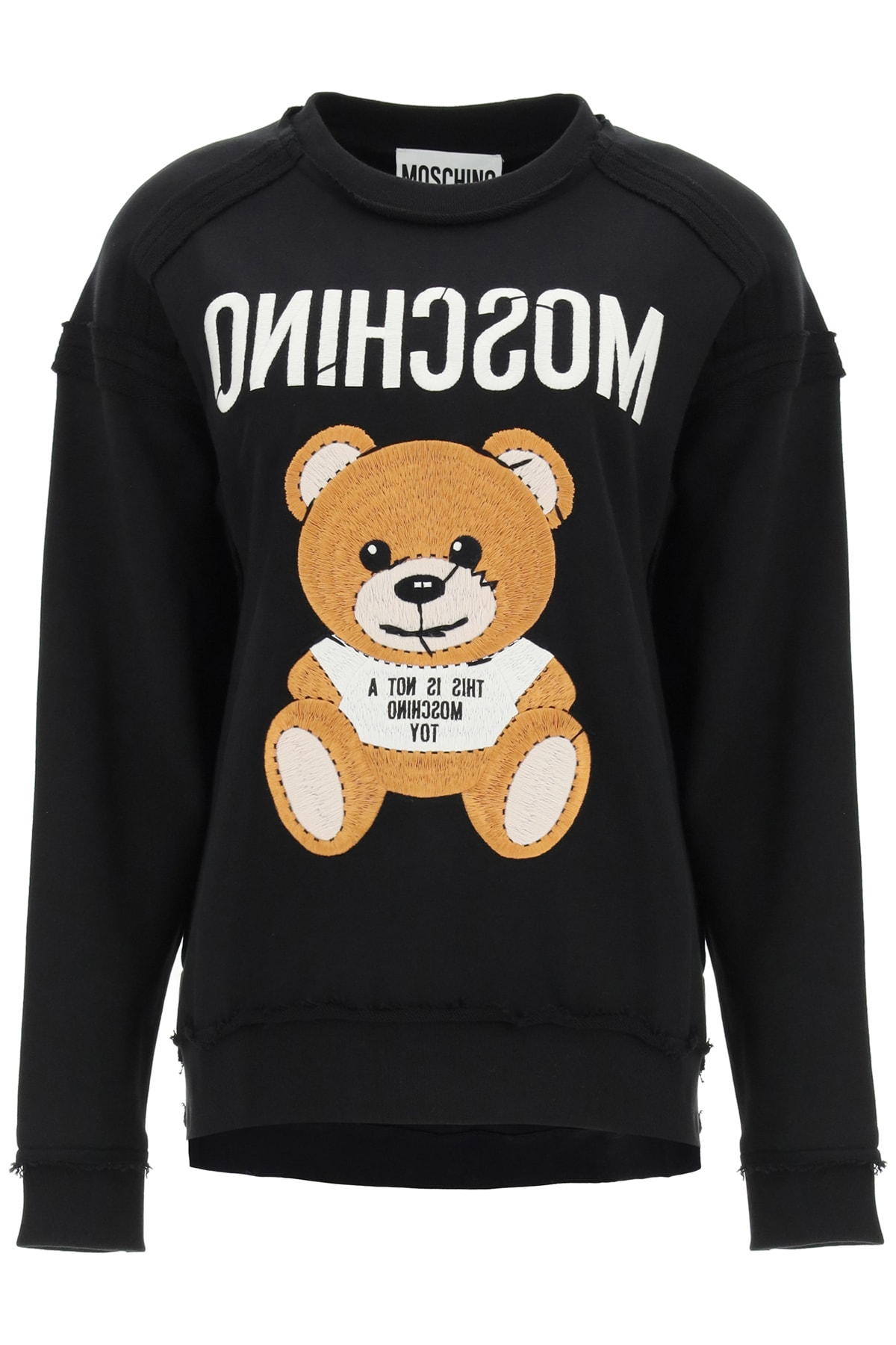 Moschino Tops TEDDY BEAR EMBROIDERED SWEATSHIRT