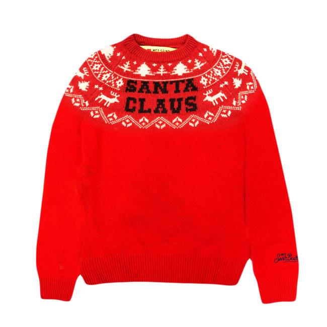 MC2 Saint Barth Santa Claus Reindeer Red Kid Sweater