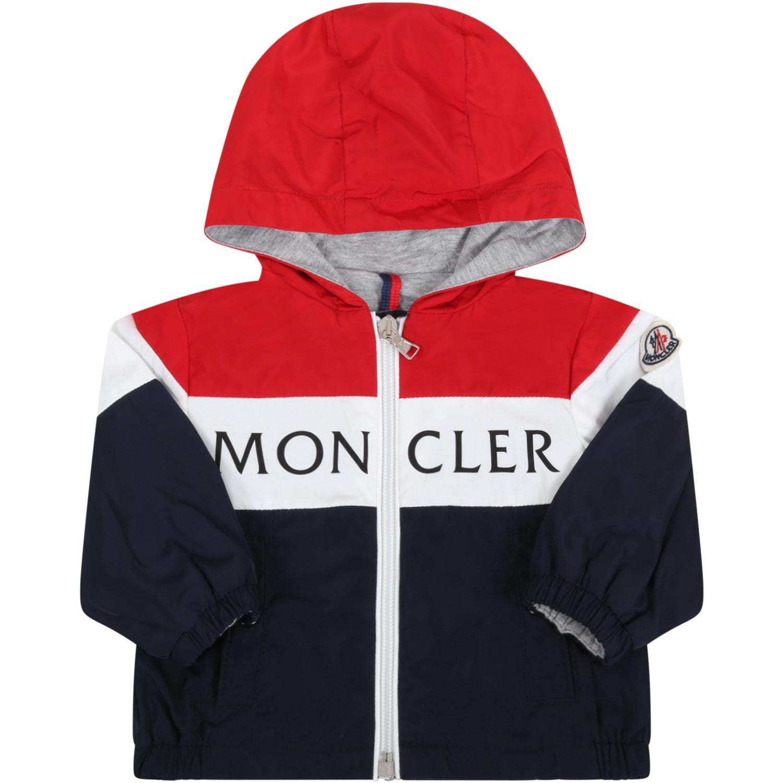 Moncler Multicolor dard Jacket For Babyboy With Logo