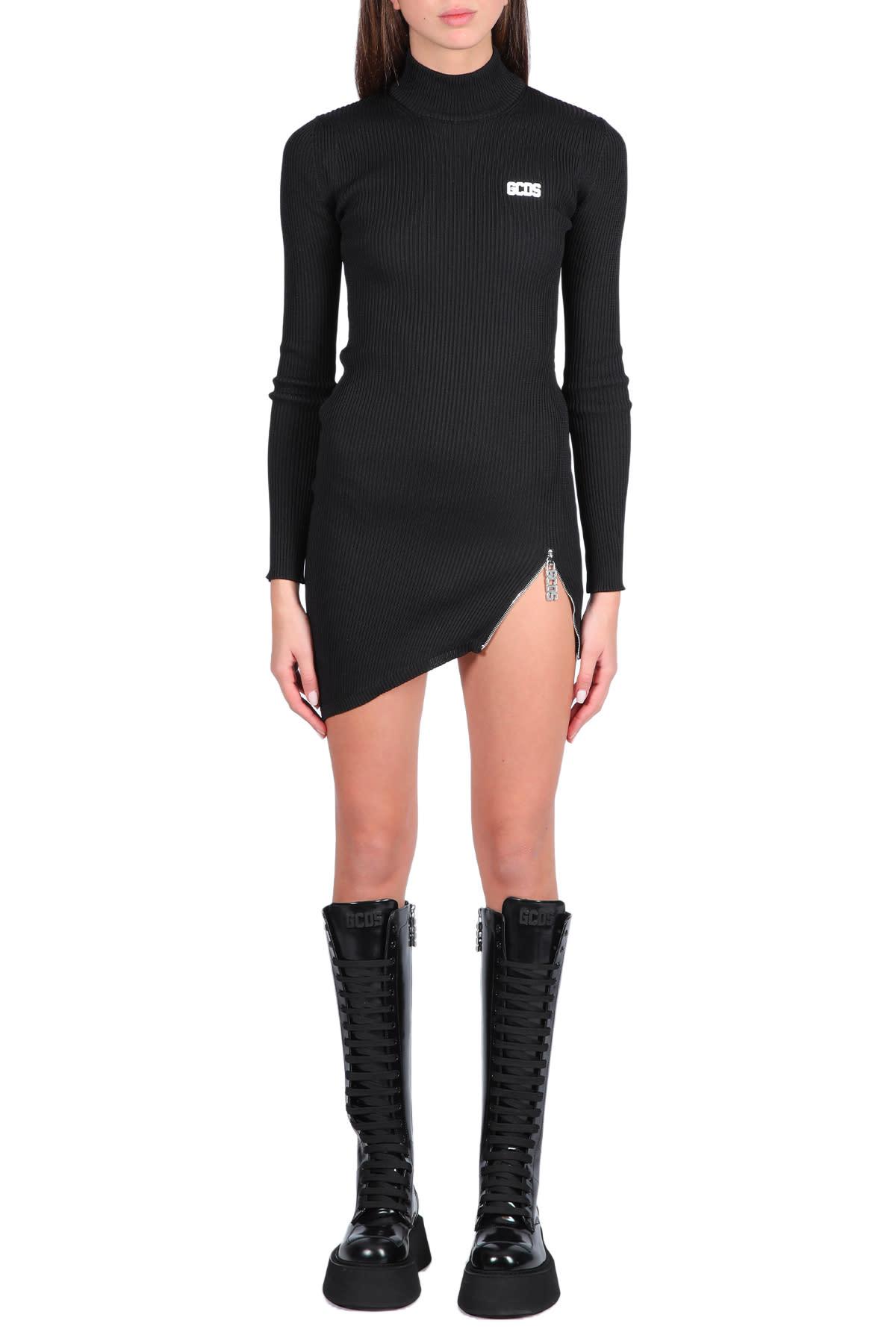 Collar Asymmetrical Dress