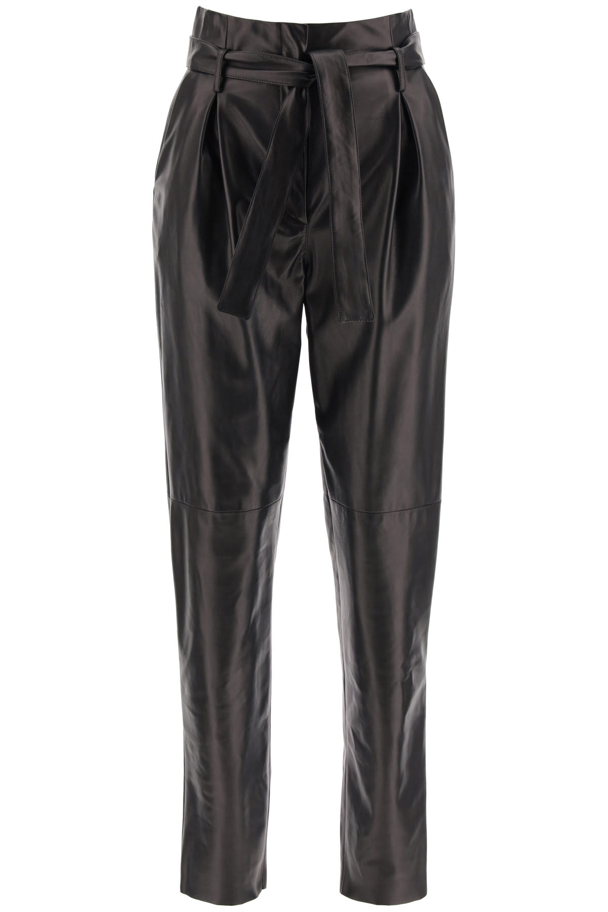 DROMe Leather Paperbag Pants
