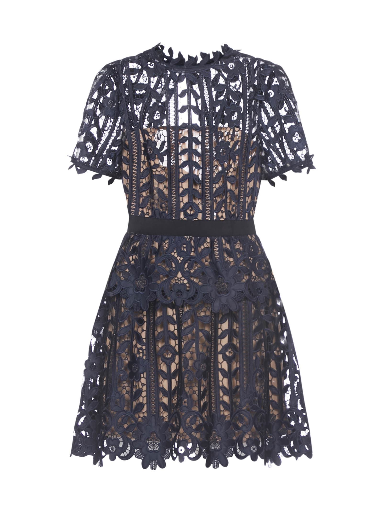 Buy self-portrait Lace A Line Dress online, shop self-portrait with free shipping