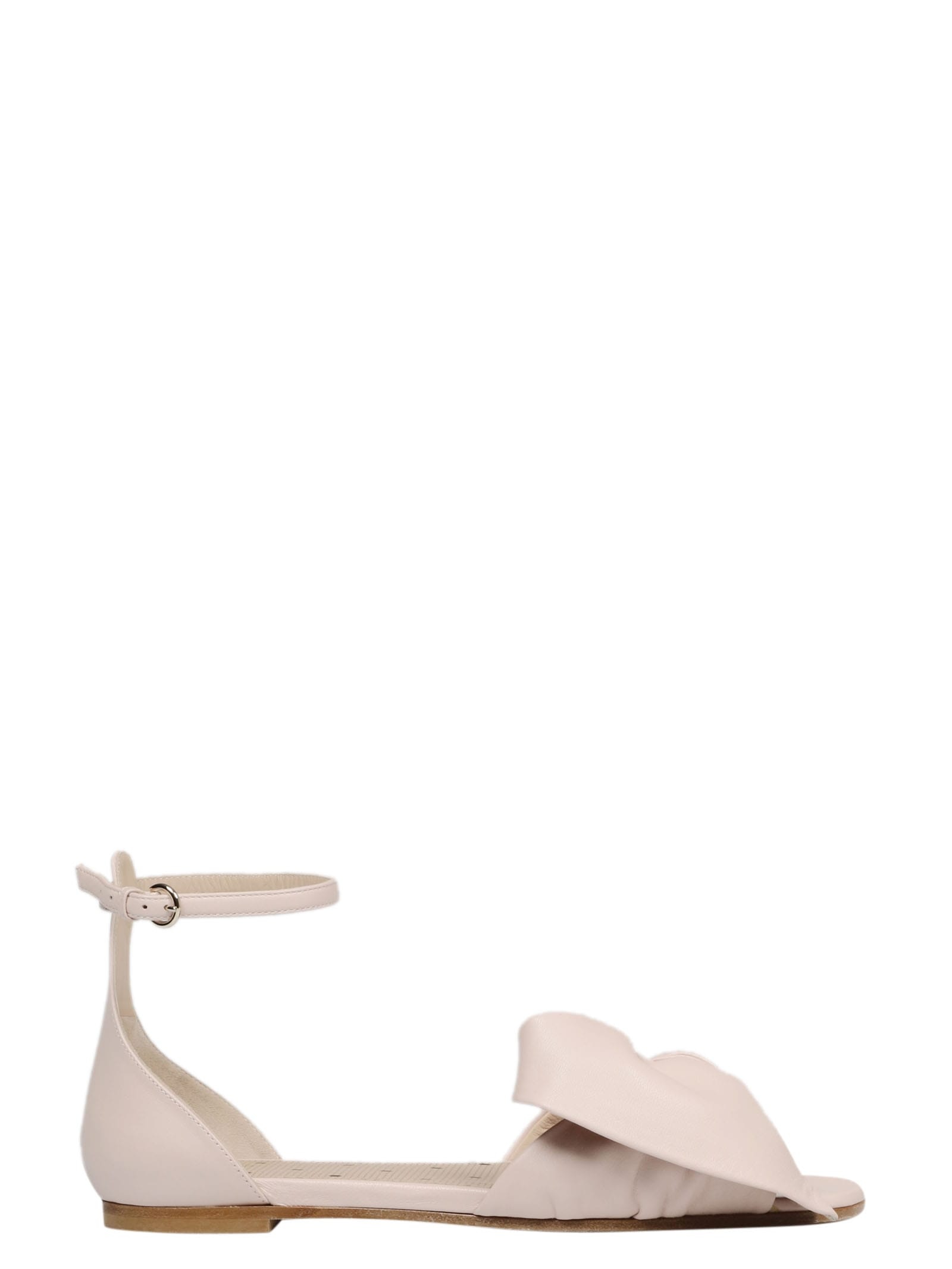 Red Valentino Leathers BOW LEATHER SANDAL