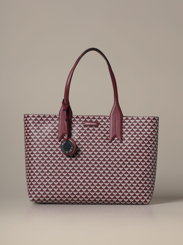 Emporio Armani Tote Bags Emporio Armani Shopper Bag With All Over Logo