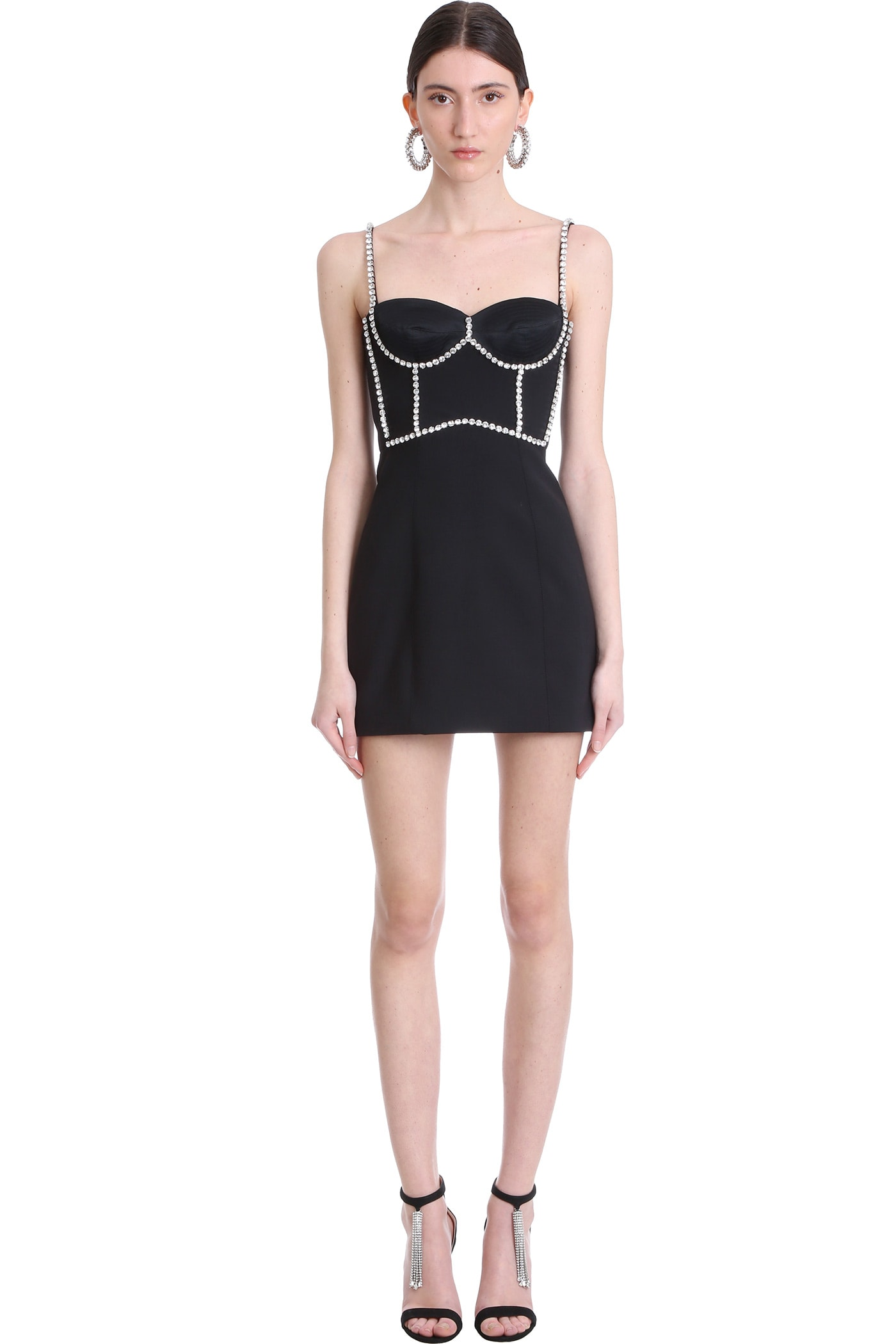 Area DRESS IN BLACK POLYESTER