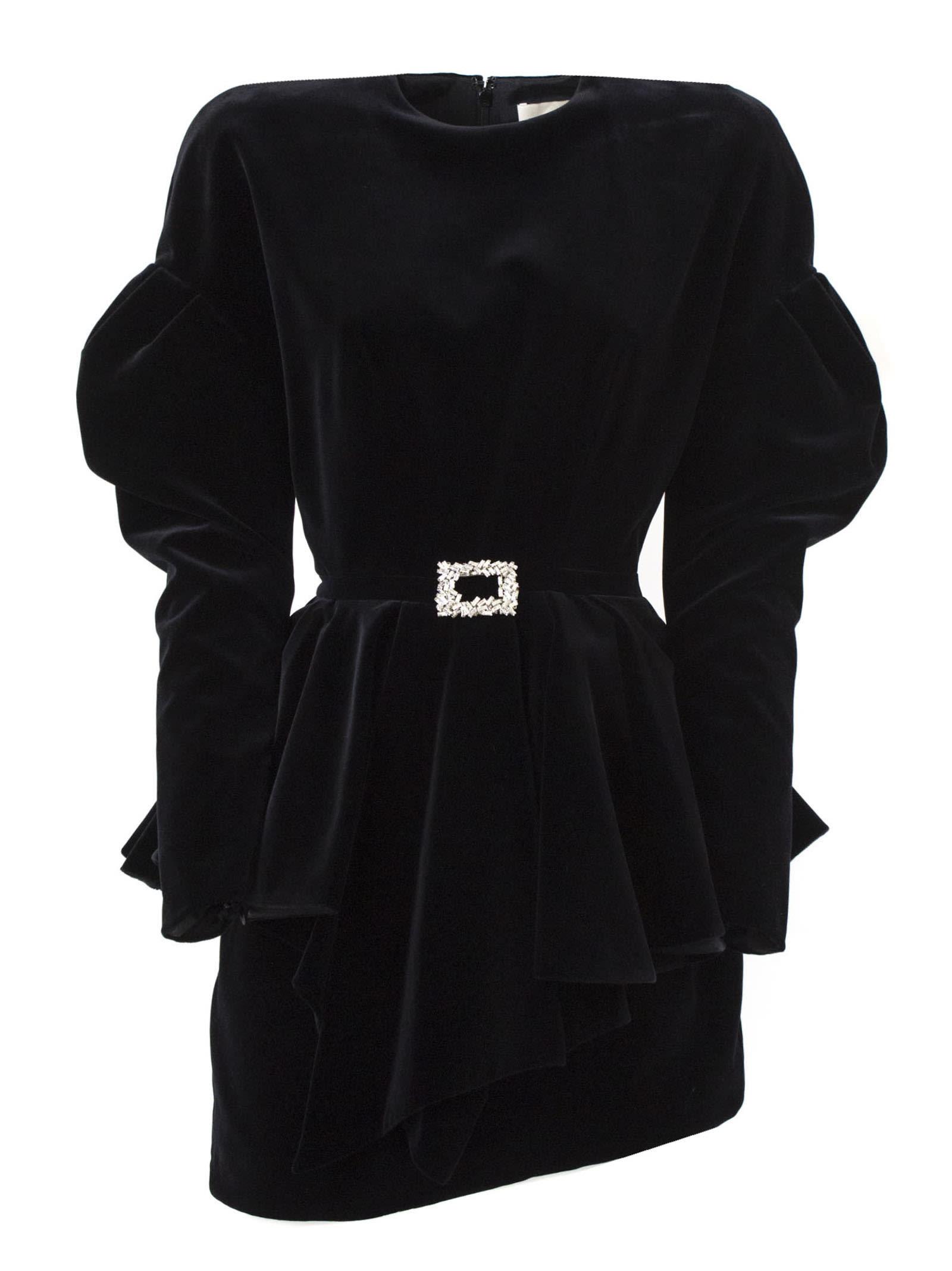 Alexandre Vauthier Black Cotton Dress