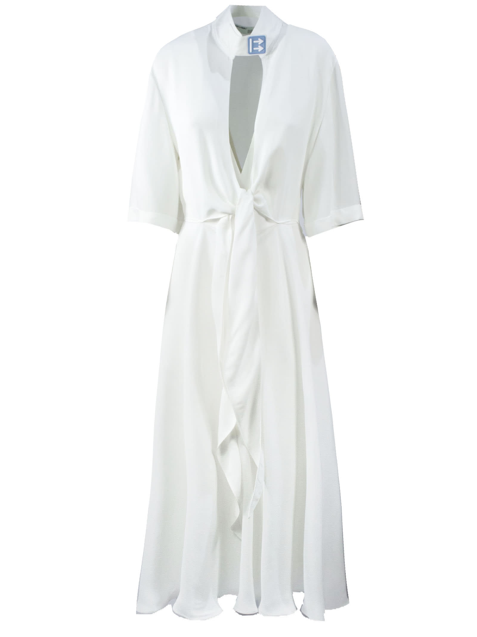 Buy Off-White Long White Dress online, shop Off-White with free shipping