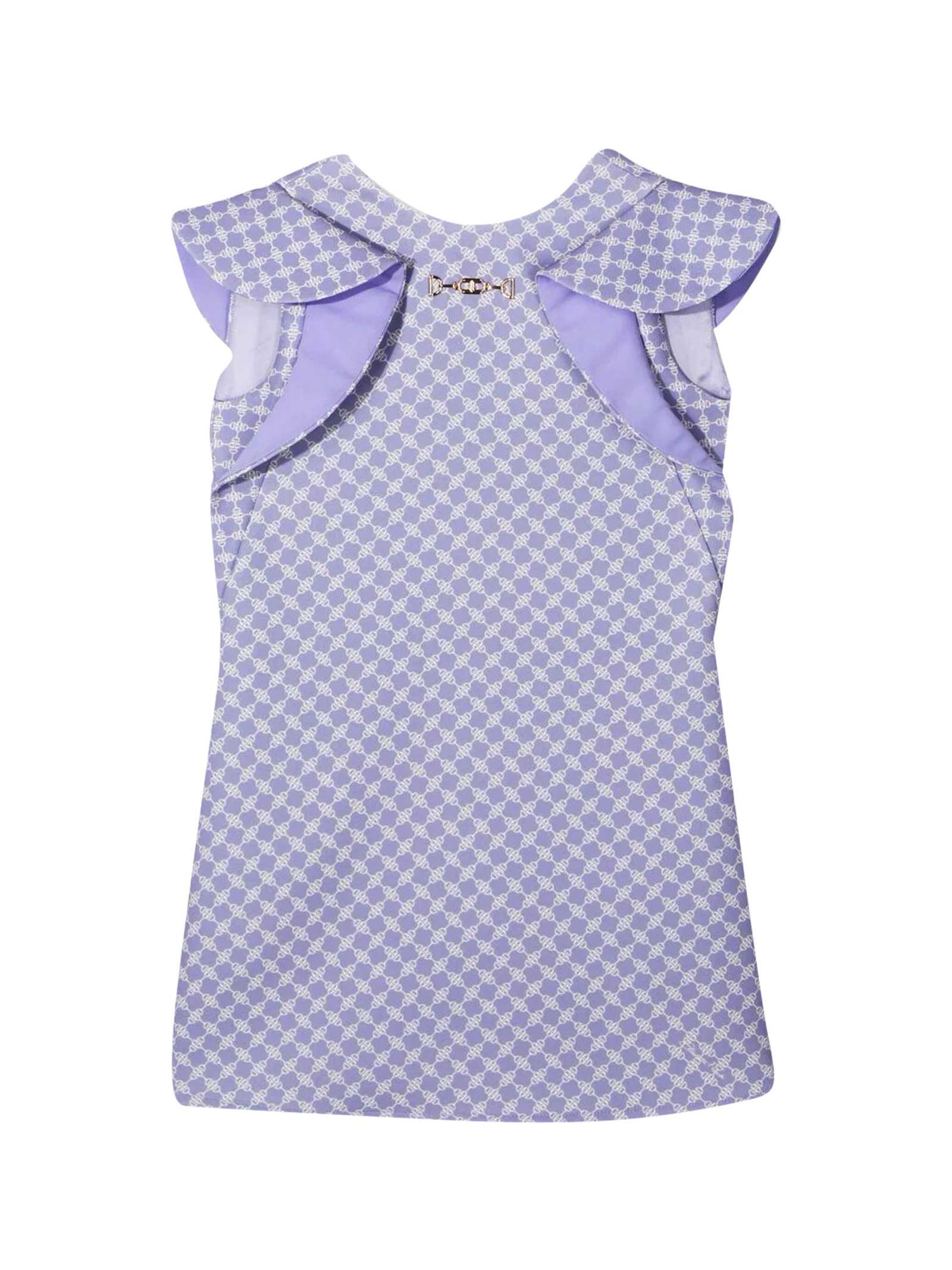 Elisabetta Franchi La Mia Bambina Dresses DRESS WITH ELISABETTA FRANCHI MY GIRL PRINT