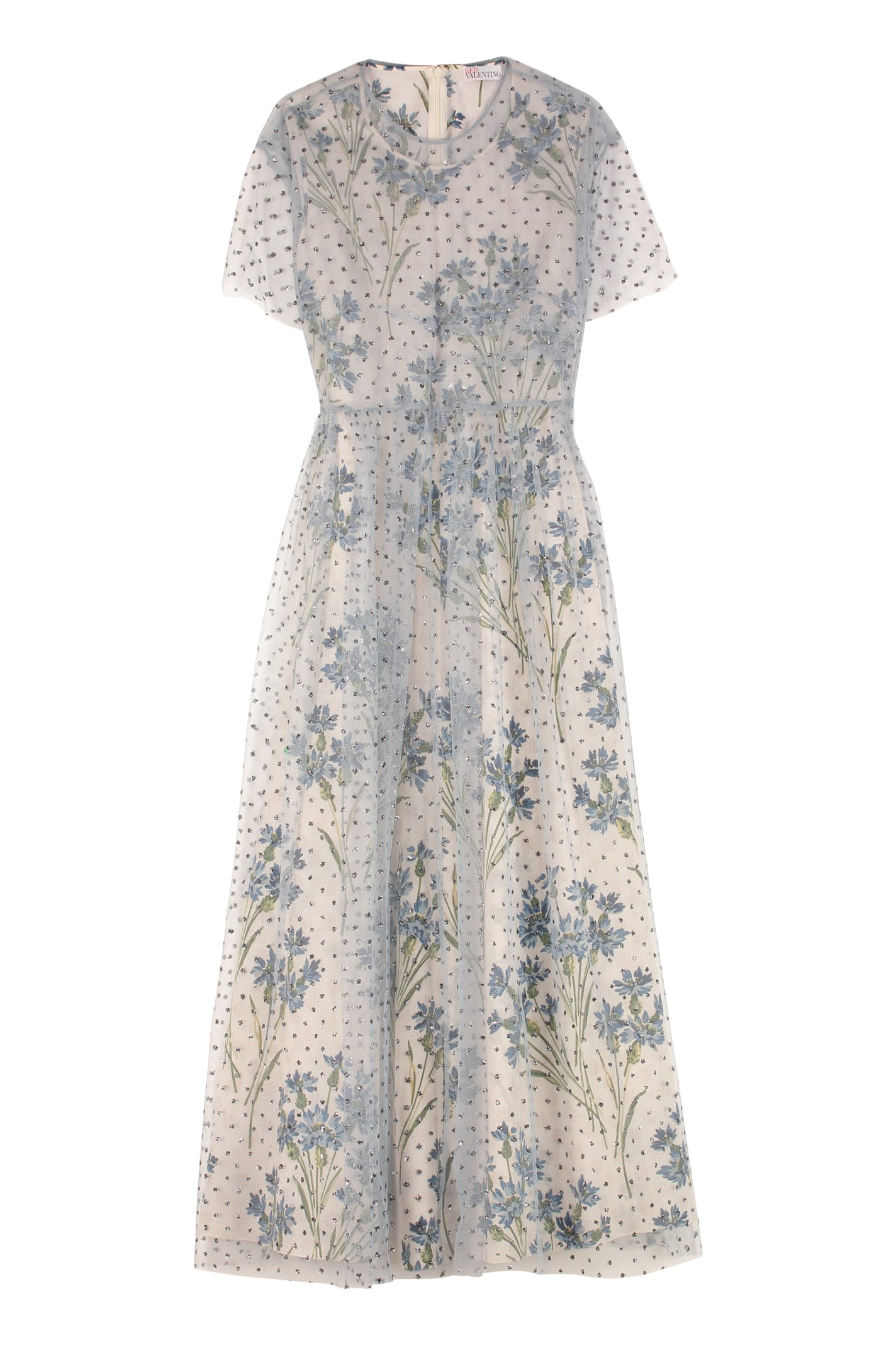 Buy Glitter Polka Dots Tulle Dress online, shop RED Valentino with free shipping