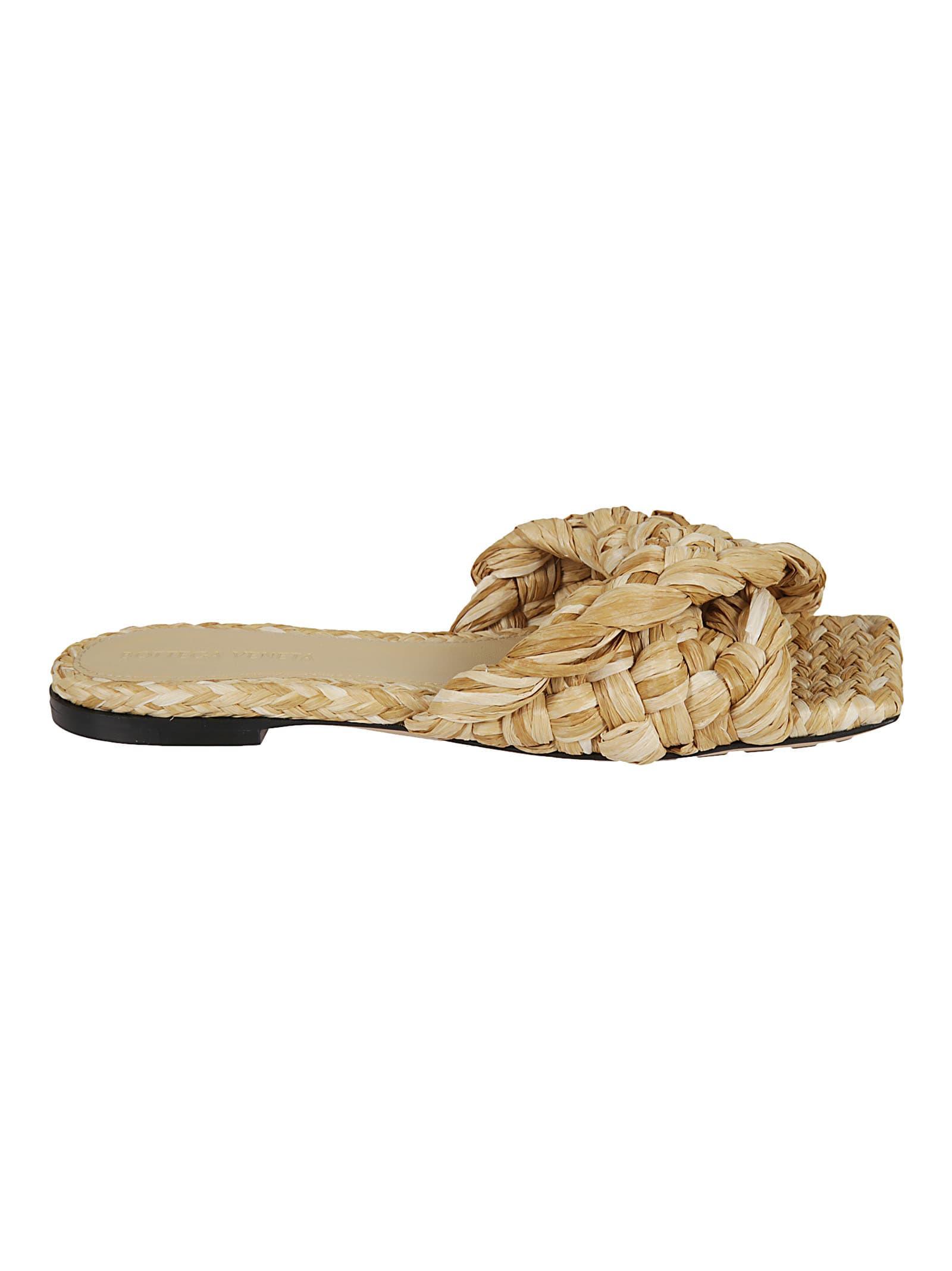 Bottega Veneta Stretch Intreccio Raffia Sandals