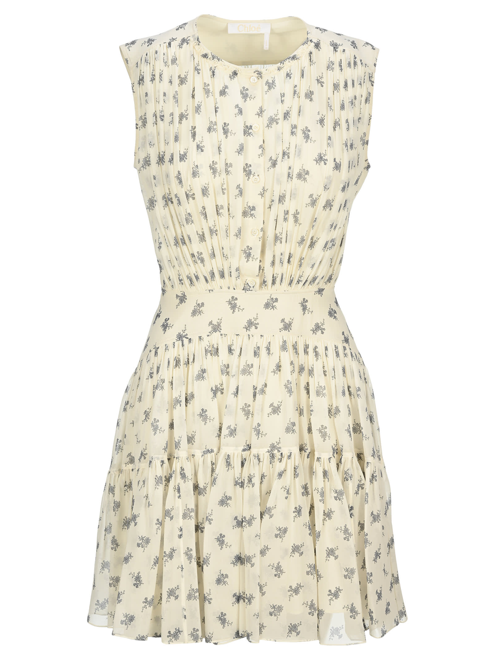 Buy Chloe Floral Print Mini Dress online, shop Chloé with free shipping