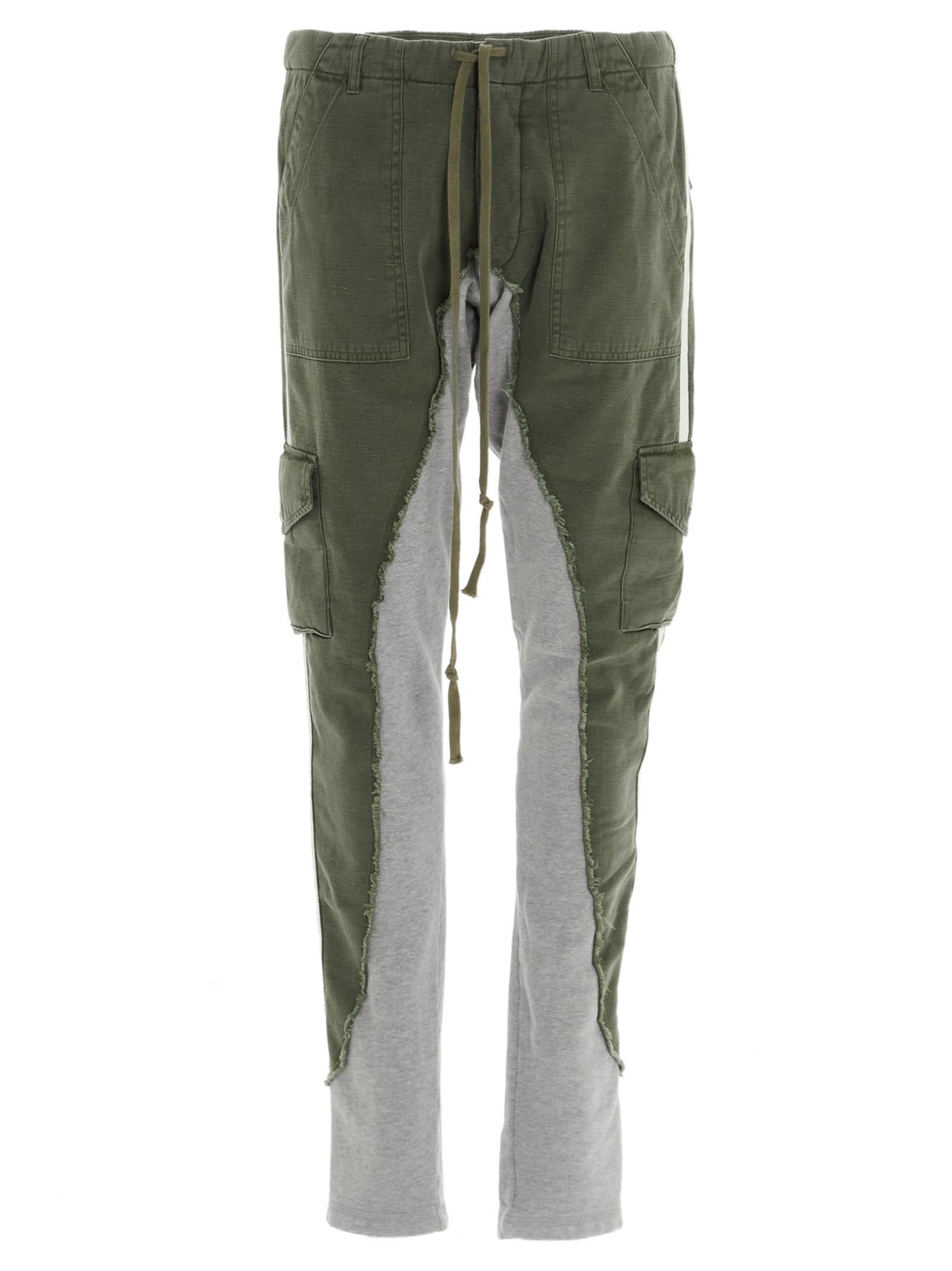 Greg Lauren baker Fleece 50/50 Long Slim Lounge Sweatpants