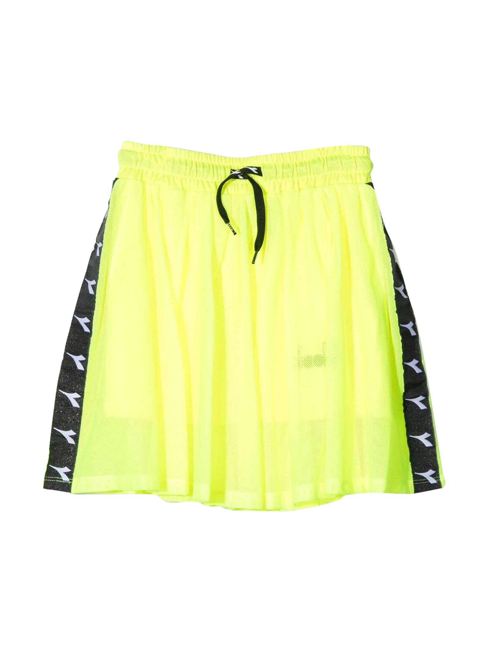 Diadora Diadora Kids Fluo Yellow Teen Skirt