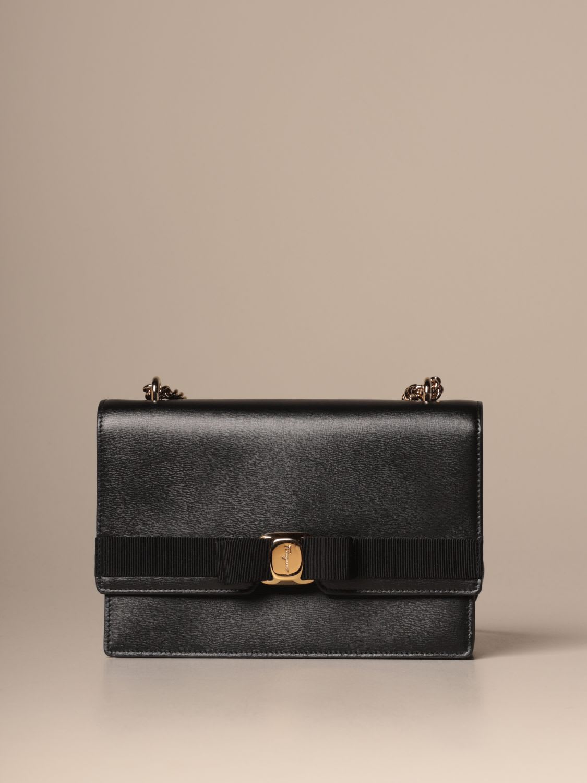Salvatore Ferragamo Shoulder Bag Salvatore Ferragamo Leather Bag With Vara Bow