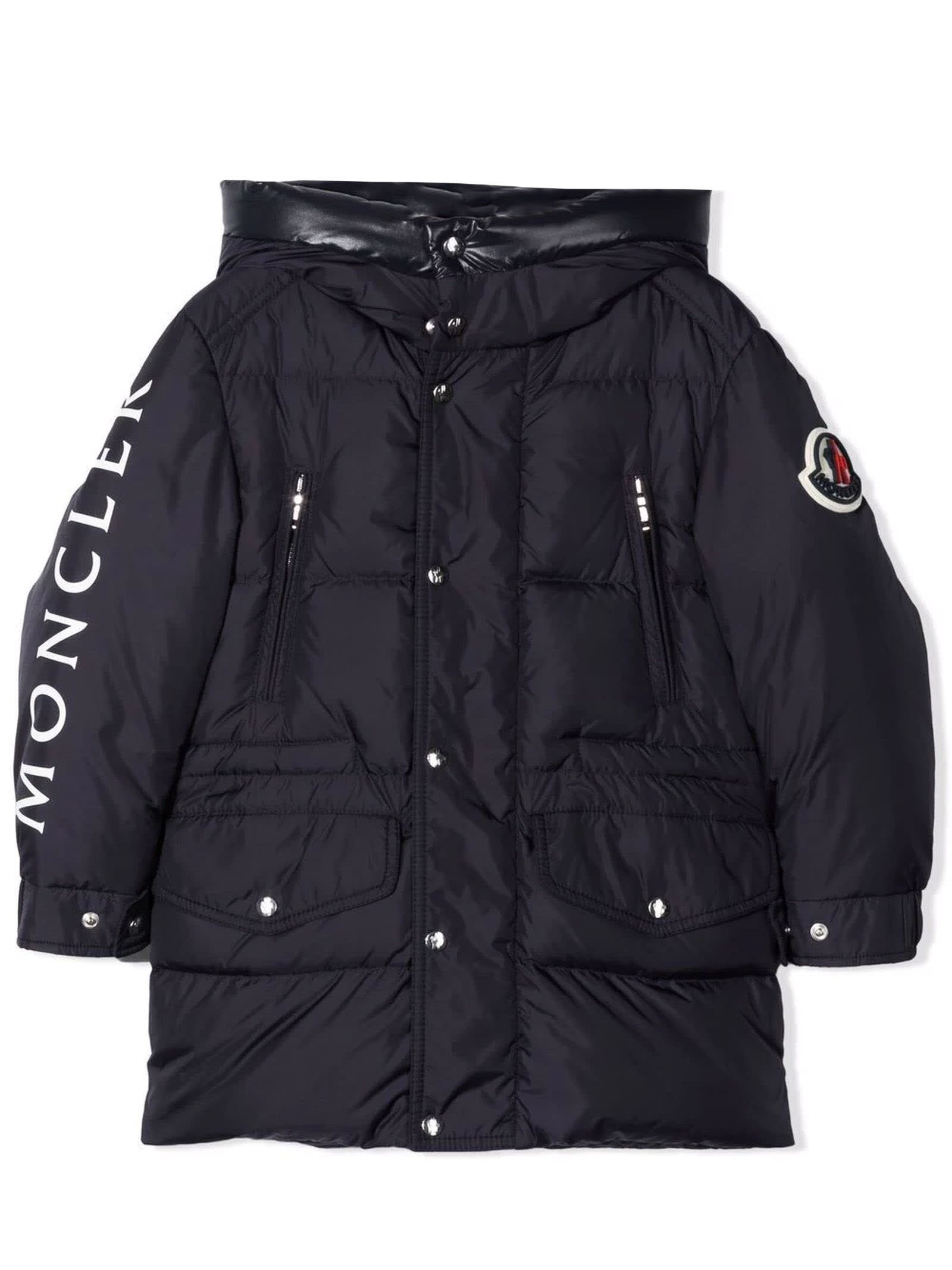 Moncler Blue Feather Down Padded Coat