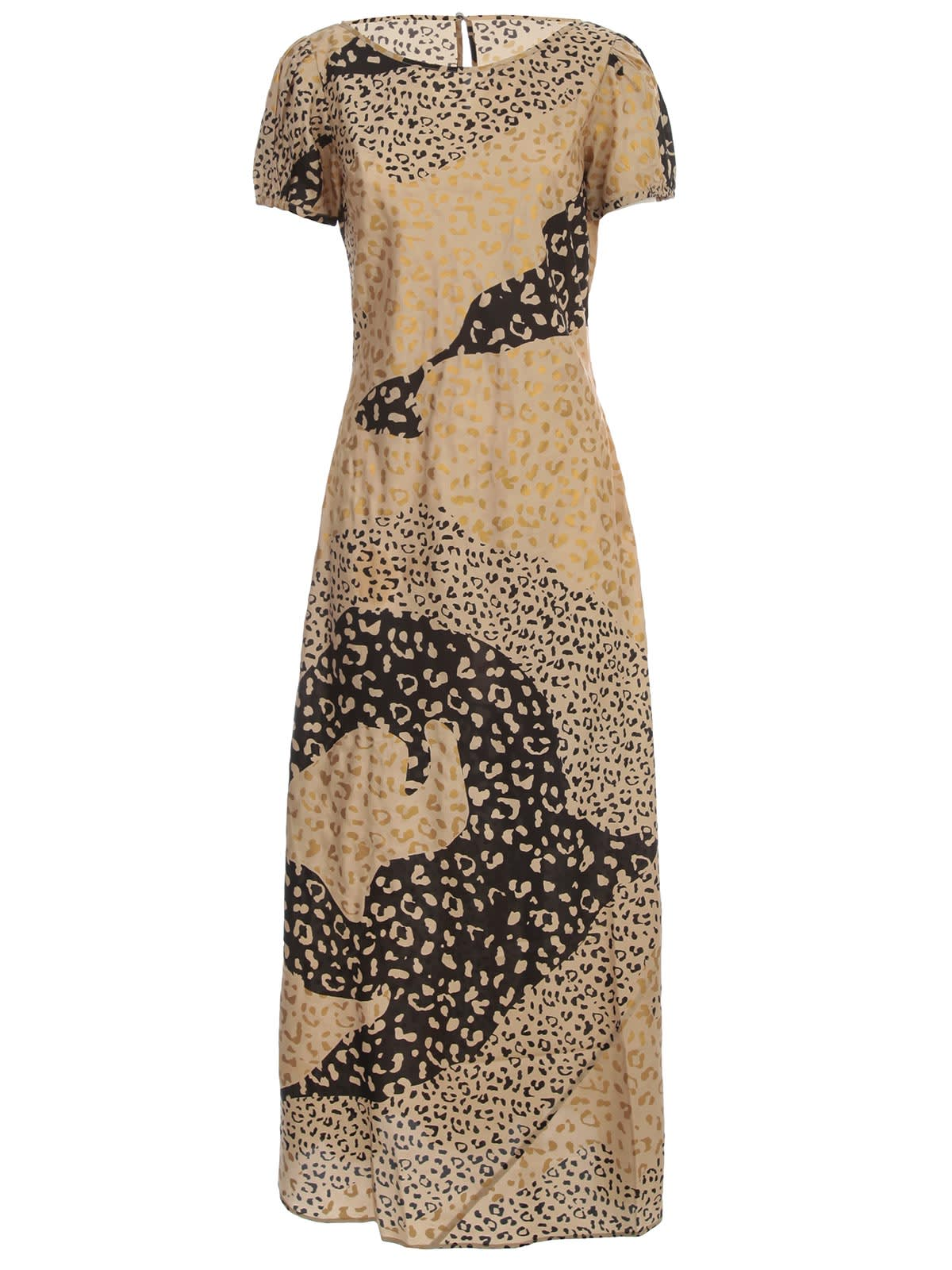 Buy RIXO Dress S/s Crew Neck Leopard online, shop RIXO with free shipping