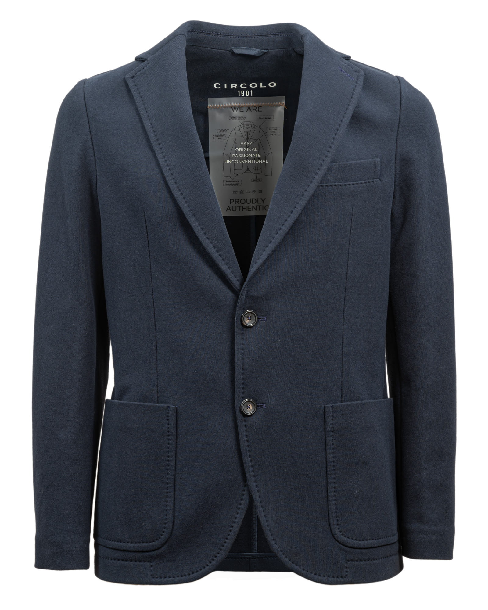 1901 Blue Stretch Cotton Jacket
