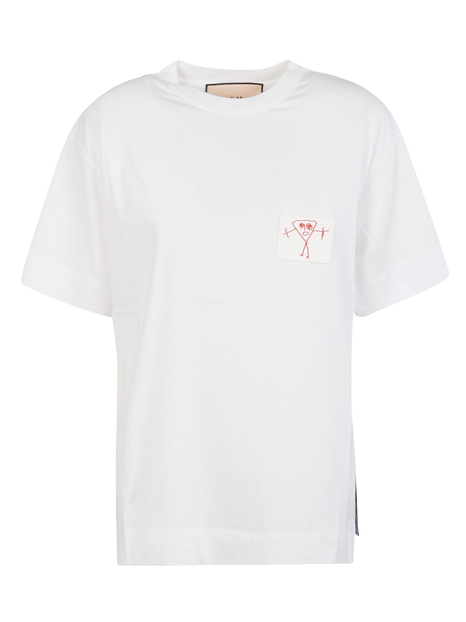 Plan C Cottons PATCH DETAIL T-SHIRT