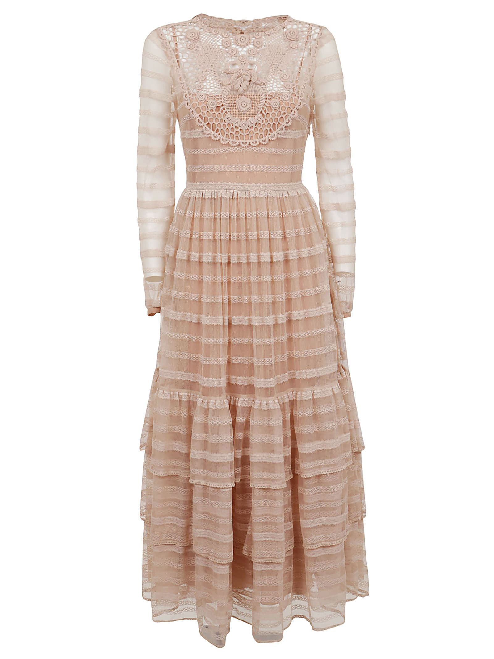 Buy RED Valentino Lace And Tulle Dress online, shop RED Valentino with free shipping