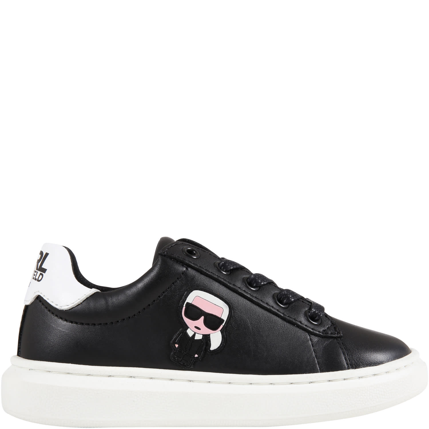 Black Sneakers For Kids With Karl Lagerfeld