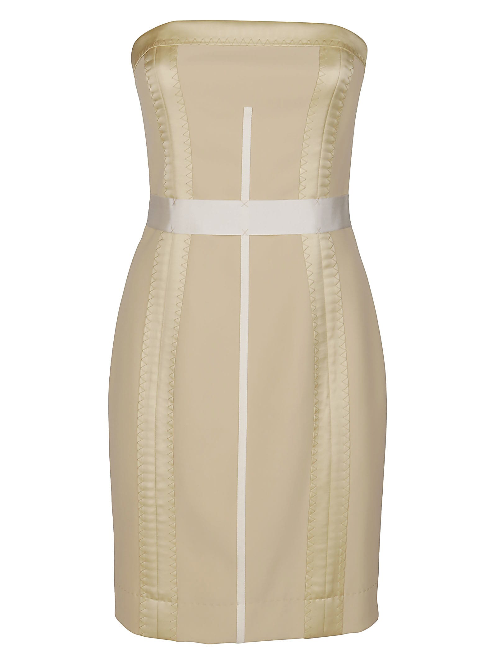 Buy Beige Bodycon Dress online, shop Moschino with free shipping
