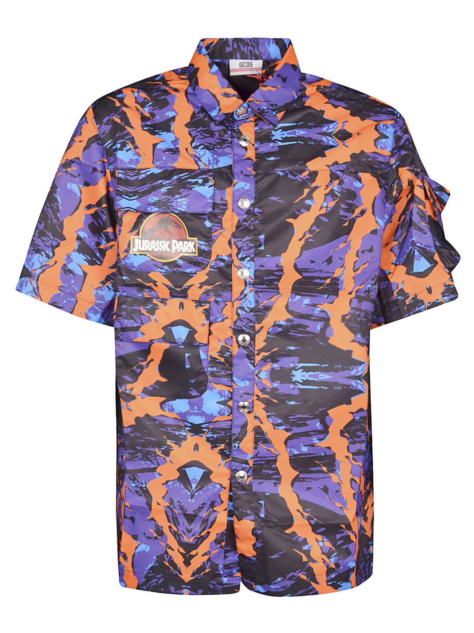 GCDS Jurassic Park Printed Shirt