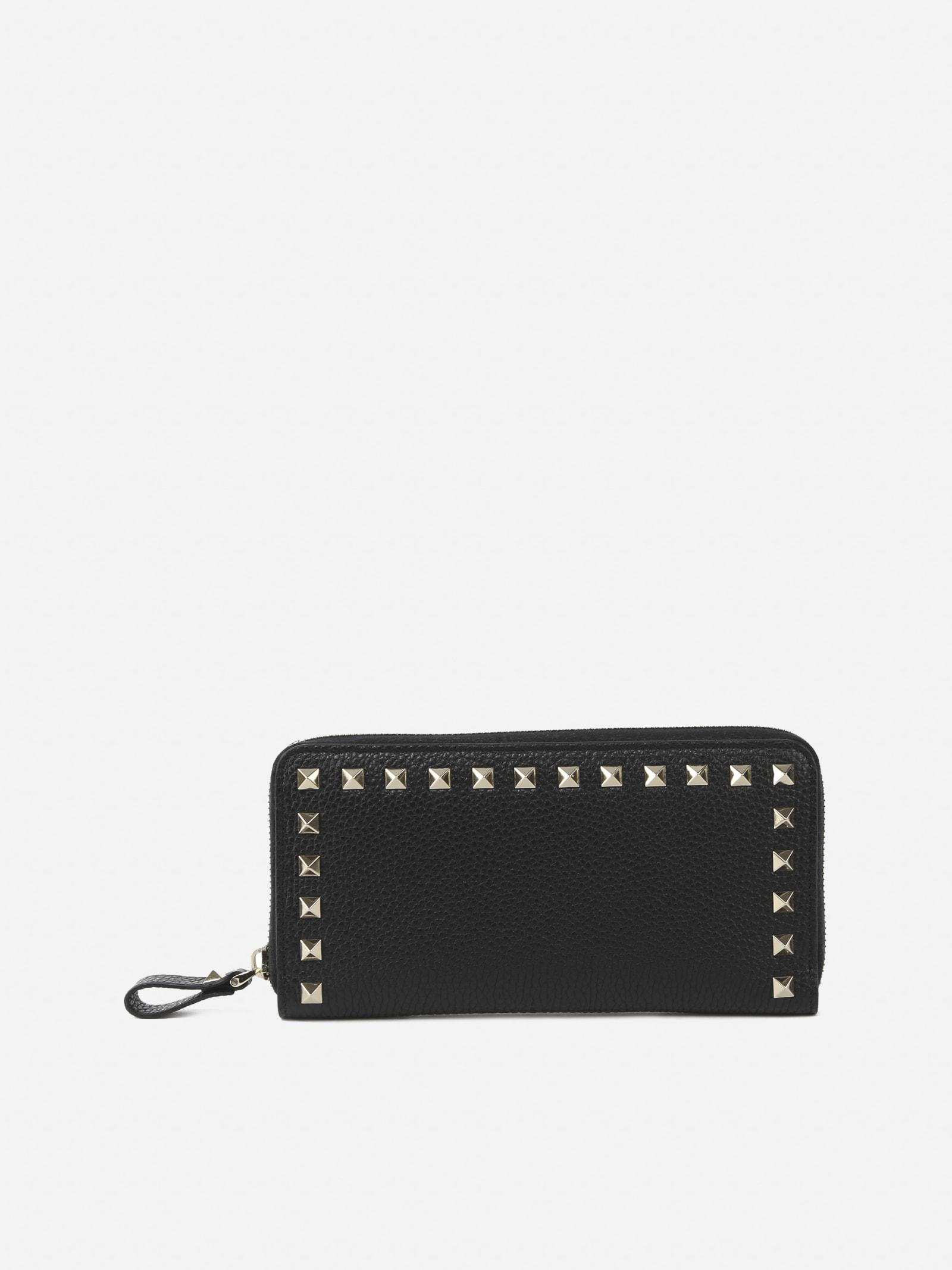 Valentino Garavani Rockstud Large Leather Wallet