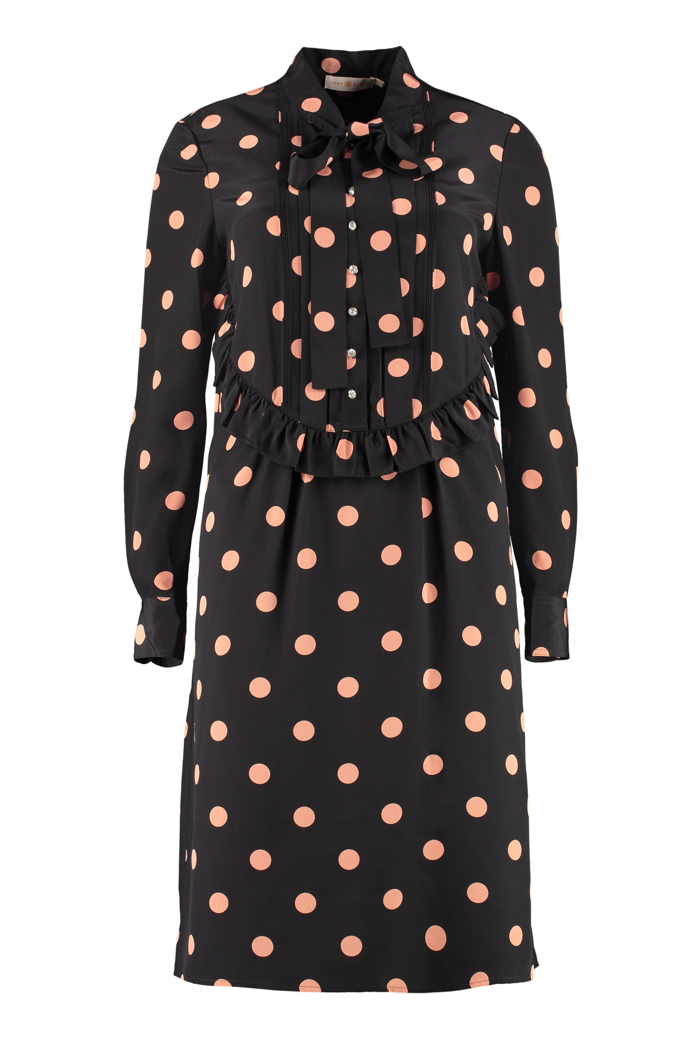 Buy Tory Burch Polka-dot Print Silk Mini Dress online, shop Tory Burch with free shipping