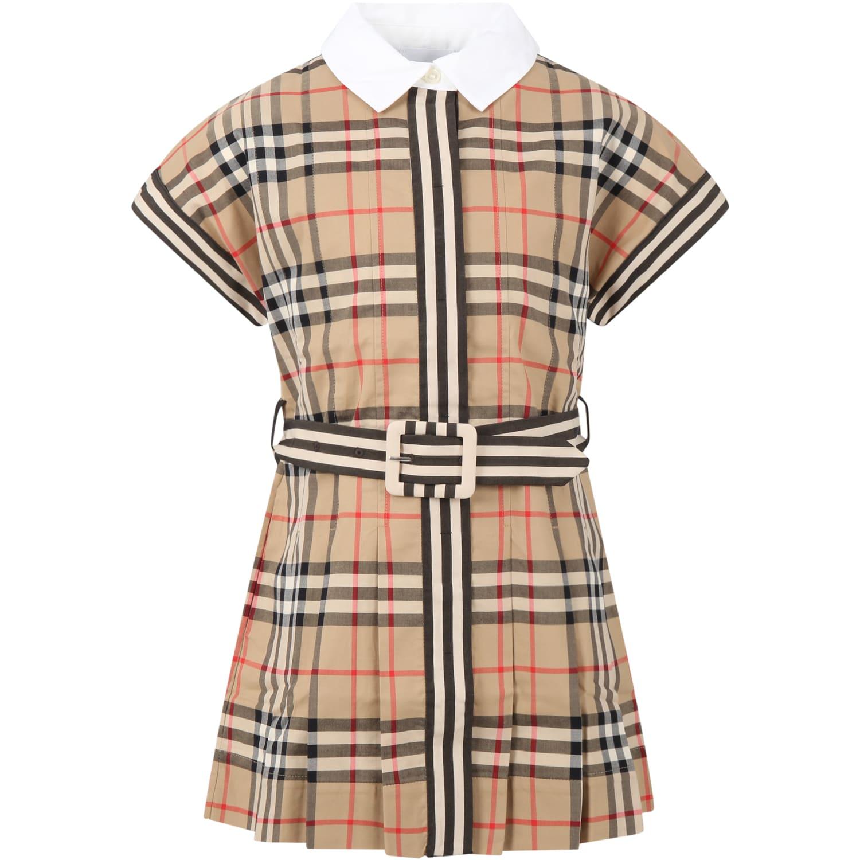 Burberry BEIGE DRESS FOR GIRL